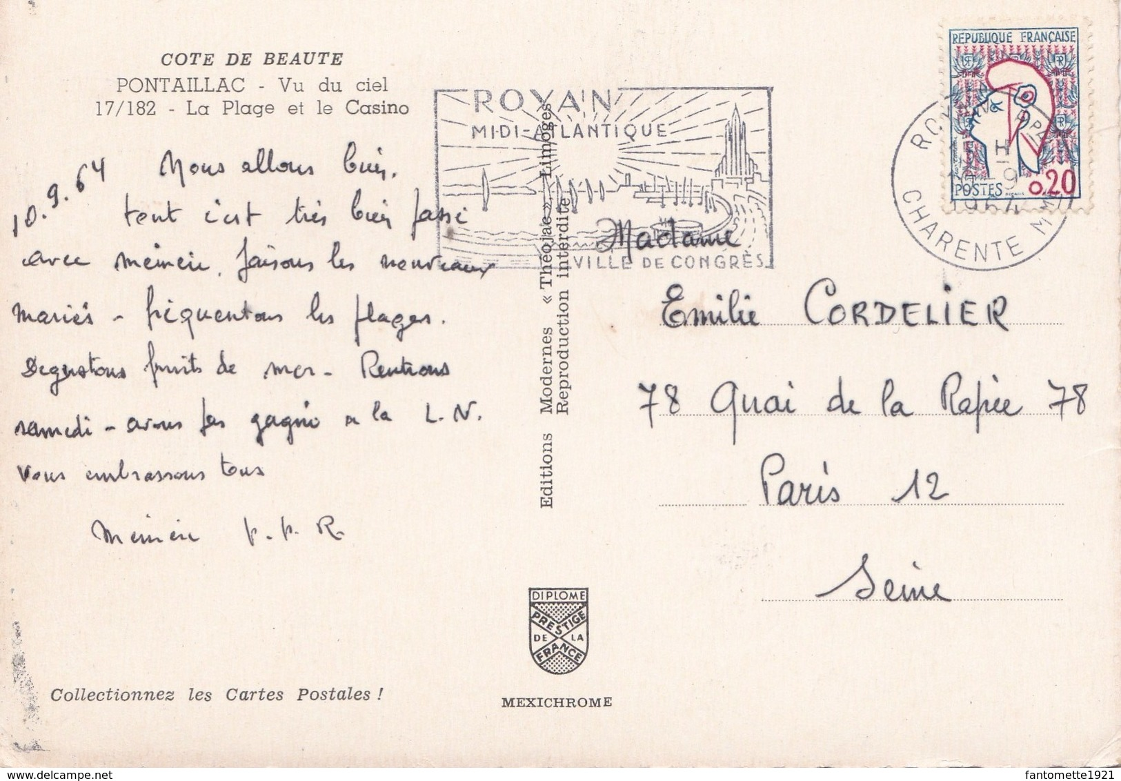 PONTAILLAC  VU DU CIEL LA PLAGE ET LE CASINO (dil385) - France