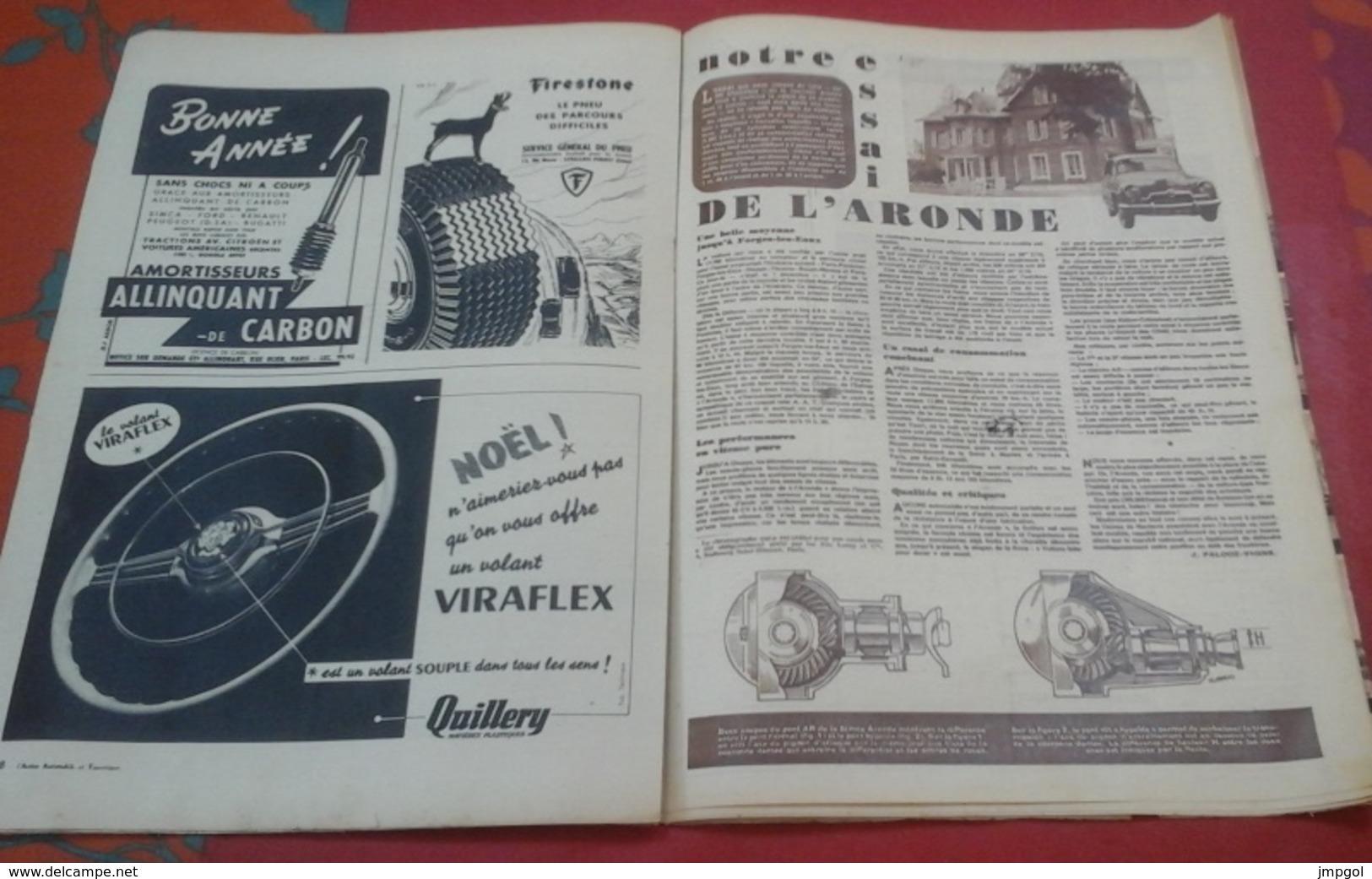 Action Automobile Janvier 1952 Expedition Panhard Capricorne Lausanne Singapour,Panaméricaine,Essai Aronde - Auto/Motorrad