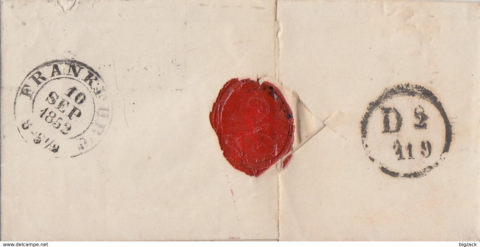 Preussen Brief R3 Berlin Stadtpost-Exp.VII 9.10.1852 Gel. Nach Mainz - Preussen
