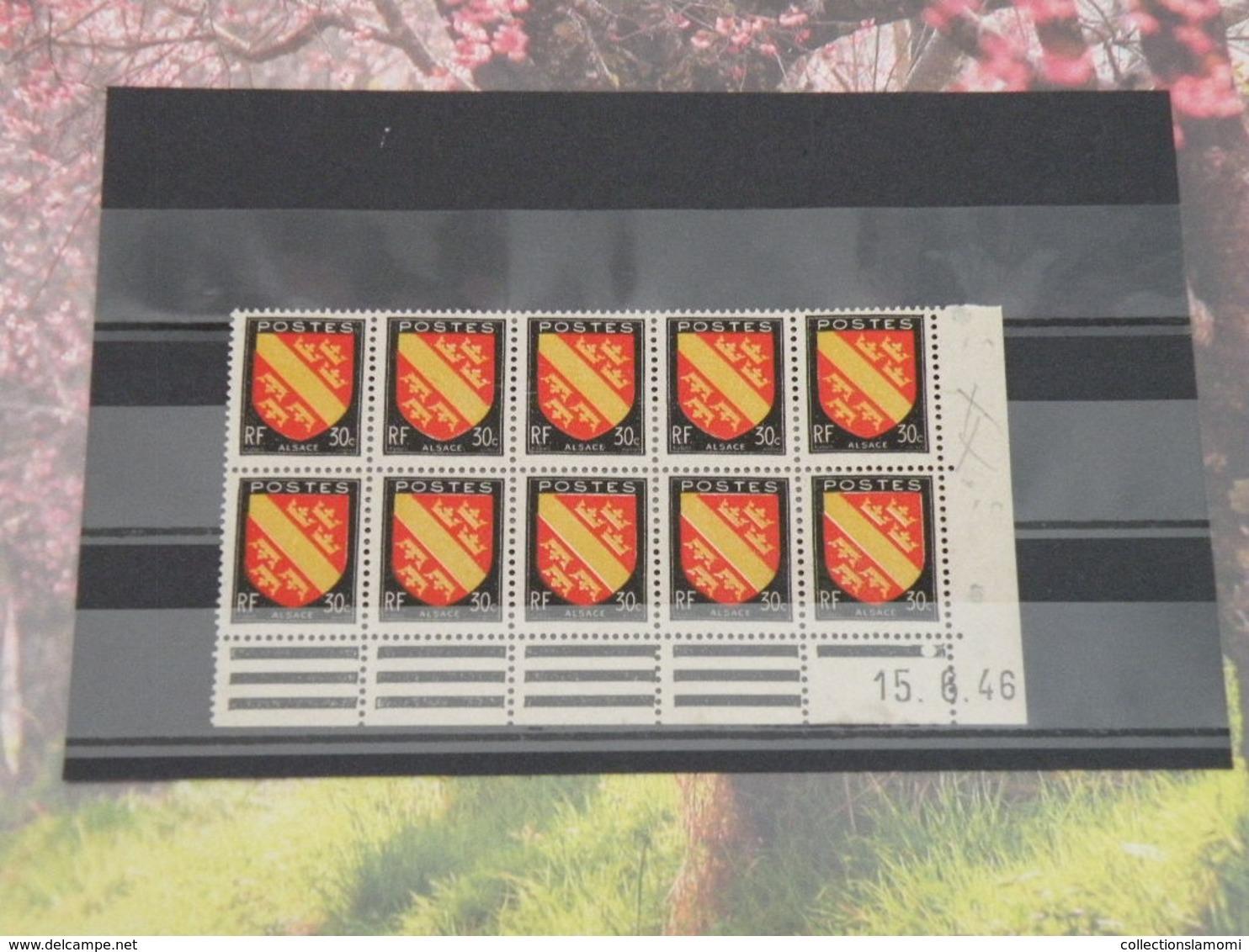 Coins Datés 10 Valeur - 15.6.1946 Neuf - N°46 Y&T Timbres - Coté ..€ - 1940-1949