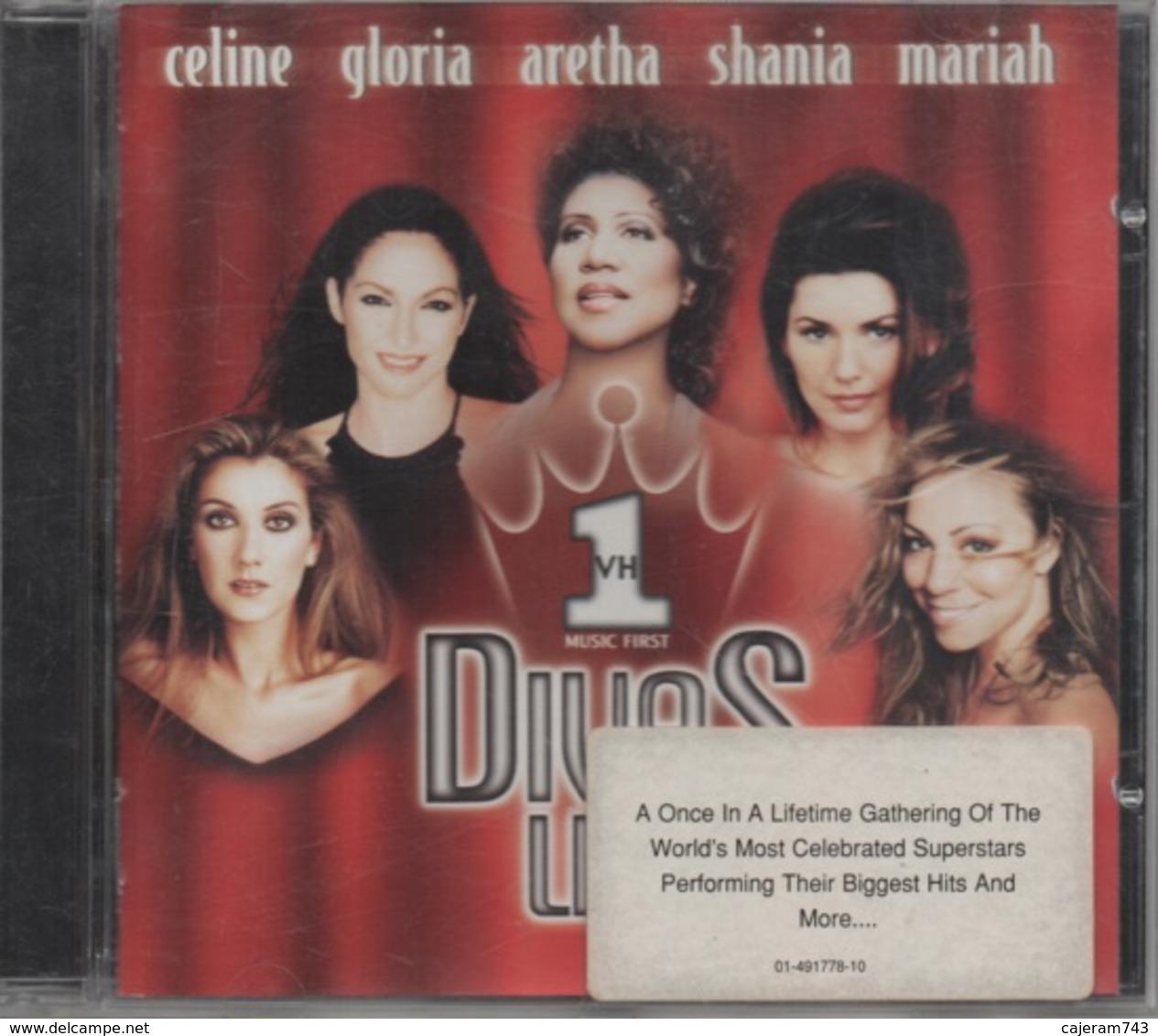 CD. DIVAS LIVE. Céline DION - Gloria ESTEFAN - Aretha FRANKLIN - Shania TWAIN - Mariah CAREY - 14 Titres - - Musik & Instrumente