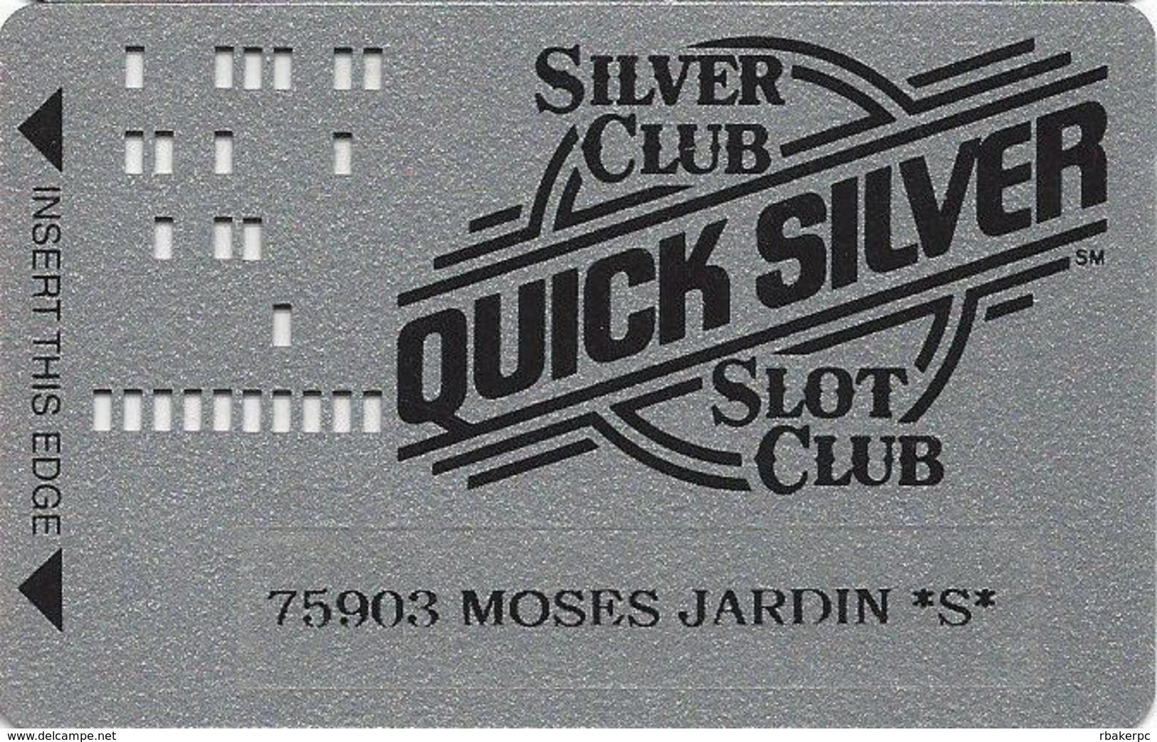 Silver Club Casino - Sparks NV -  Slot Card - PPC & 1-800-905-7774 Phone# - Senior Card (*S*) - Casino Cards
