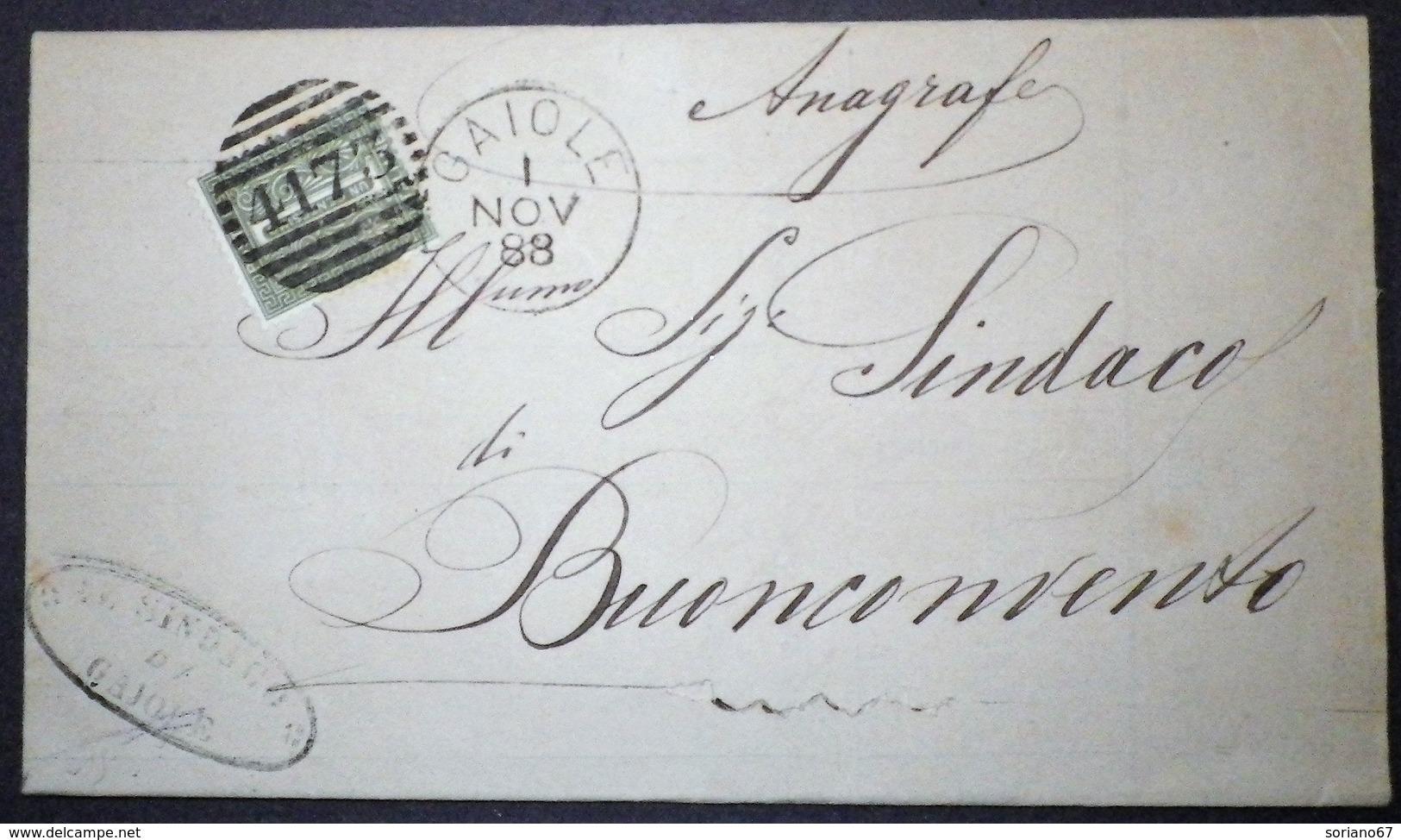 Annullo Numerale GAIOLE Siena Numerali Toscana - 1861-78 Vittorio Emanuele II