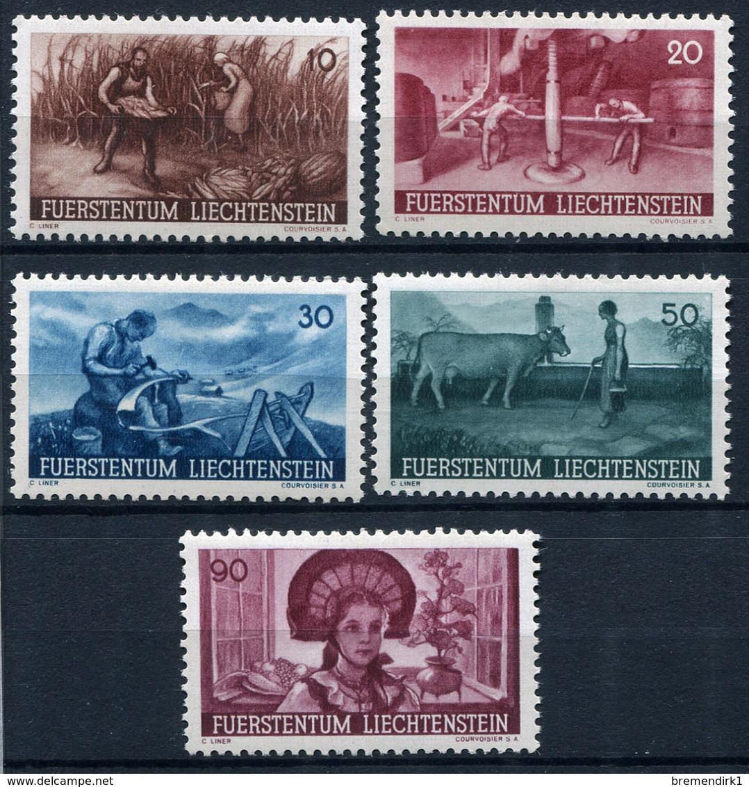 41768) LIECHTENSTEIN # 192-96 Postfrisch Aus 1941, 20.- € - Unused Stamps