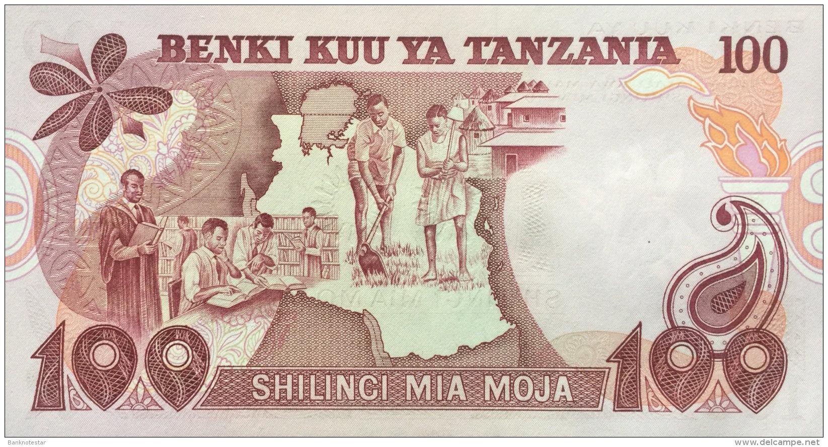 Tanzania 100 Shilingi, P-8d (1977) UNC - Tanzanie
