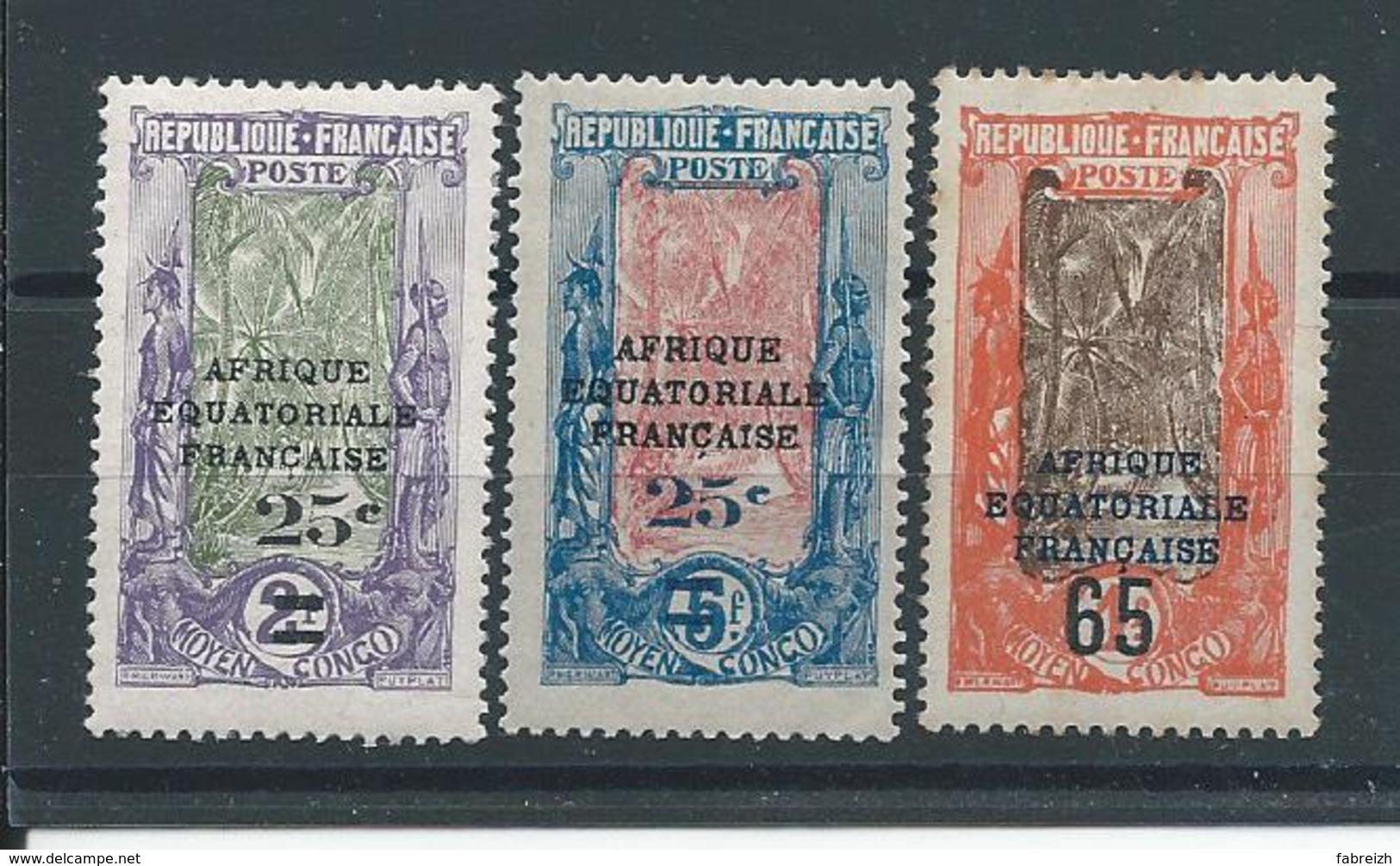 CONGO N°89:91 Oblitéré T.b - Französisch-Kongo (1891-1960)