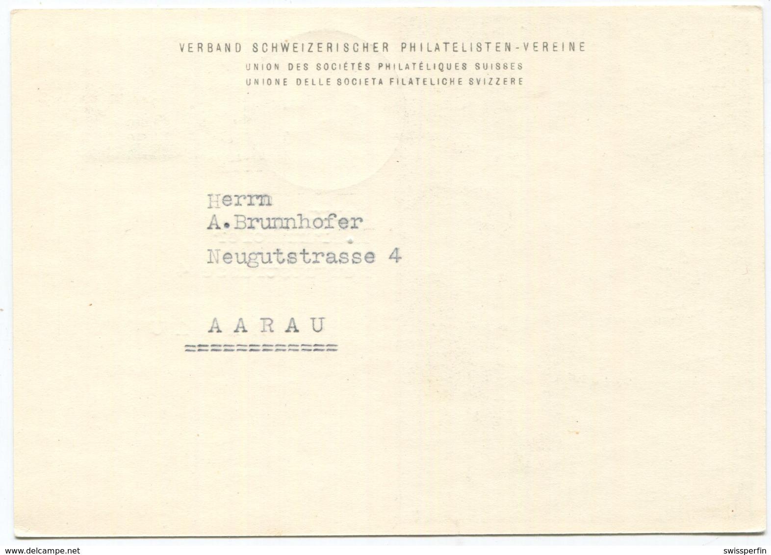 1936 - 1948 Tag Der Briefmarke Sonderkarte - Pro Juventute