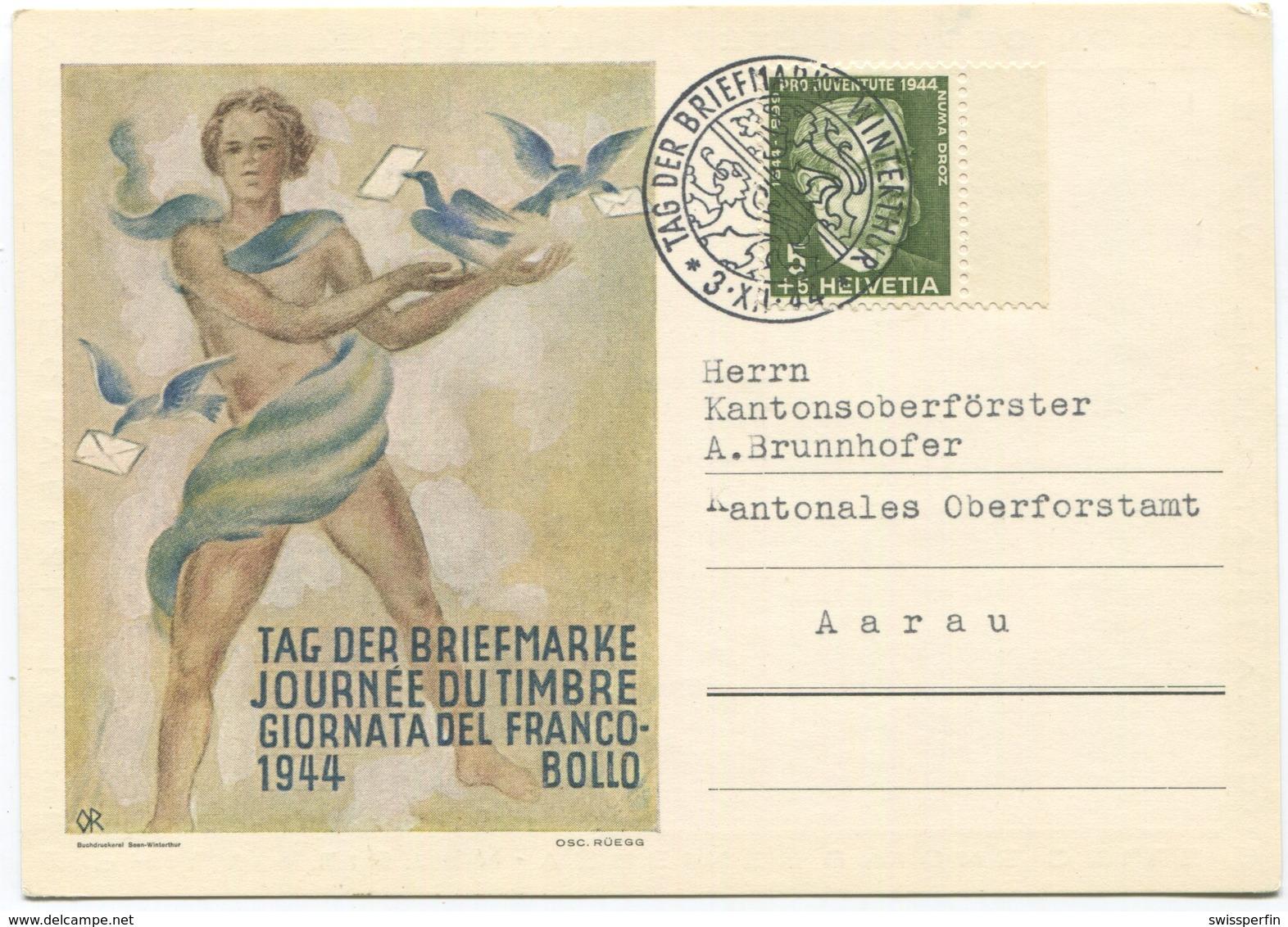 1938 - 1944 Tag Der Briefmarke Sonderkarte - Pro Juventute