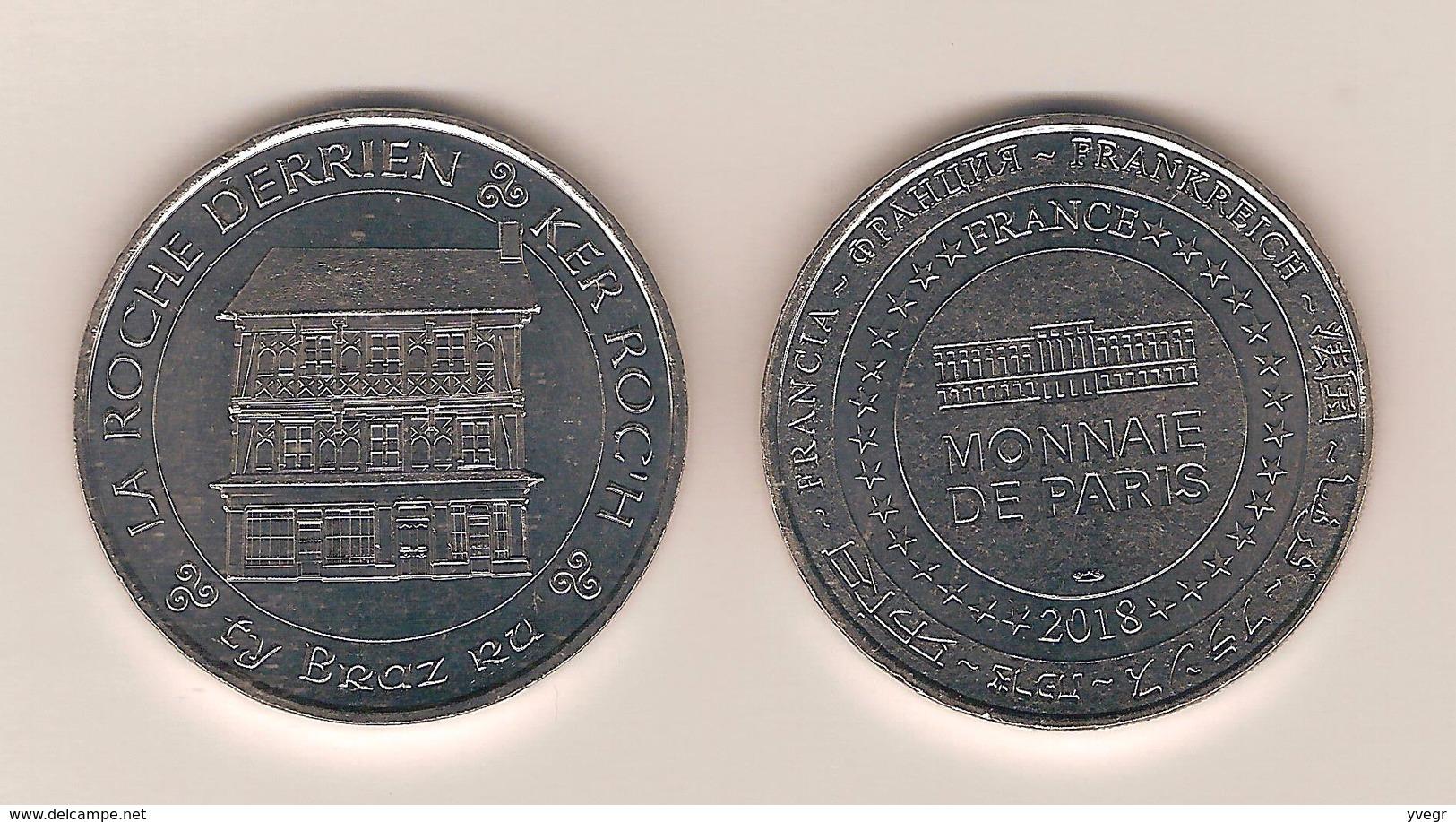 Jeton Touristique , Monnaie De Paris , 22 La Roche Derrien 2018 ( Blanche ) - Monnaie De Paris