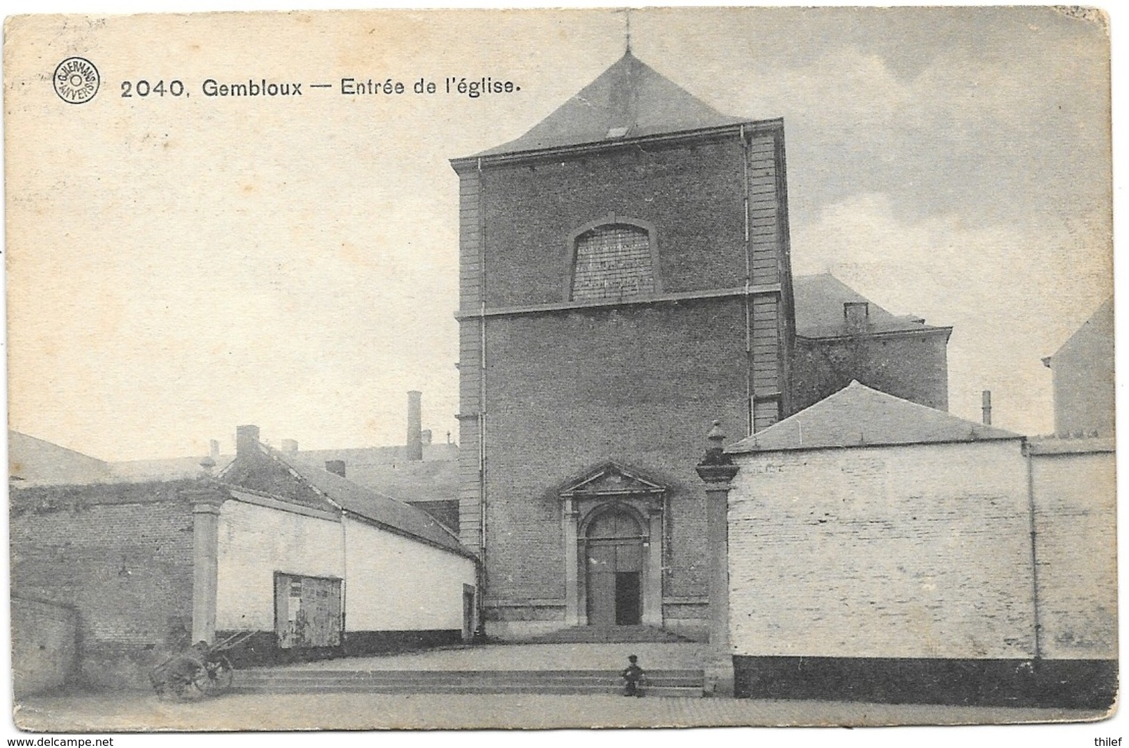 Gembloux NA26: Entrée De L'Eglise 1913 - Gembloux