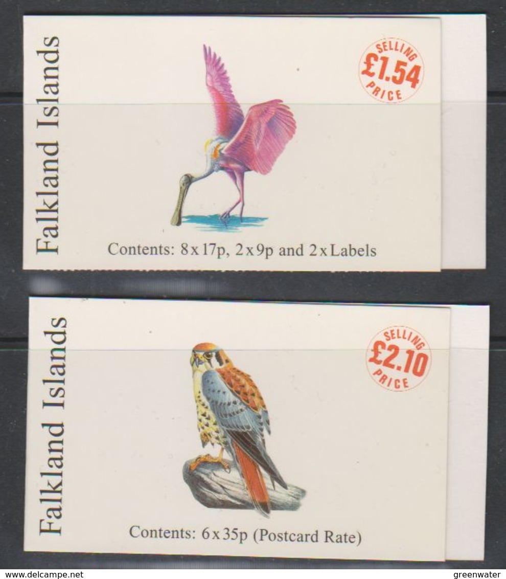 Falkland Islands 1998 Rare Visiting Birds 2 Booklets ** Mnh (39517B) - Falklandeilanden