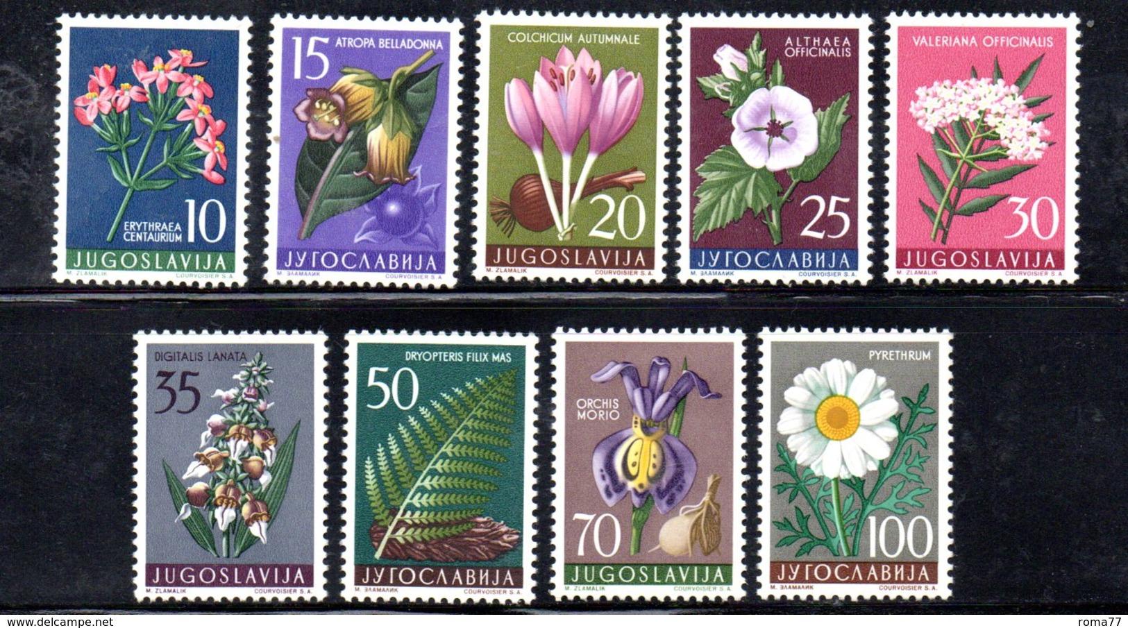 YUG83B - YUGOSLAVIA 1957, Serie Unificato N. 714/722  *** Flora 2 - 1945-1992 Repubblica Socialista Federale Di Jugoslavia