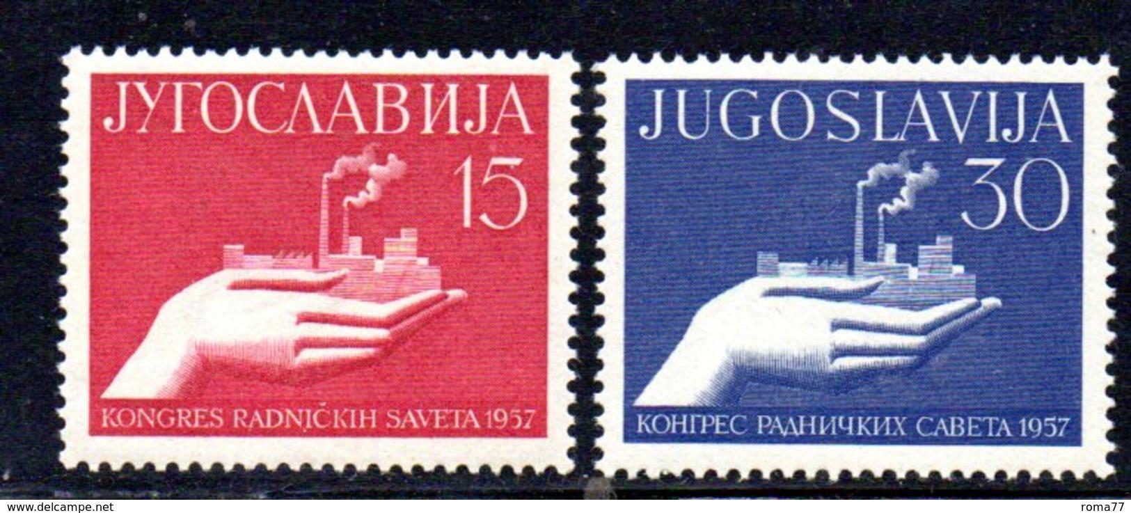 YUG84A - YUGOSLAVIA 1957, Serie Unificato N. 723/724  *** - 1945-1992 Repubblica Socialista Federale Di Jugoslavia