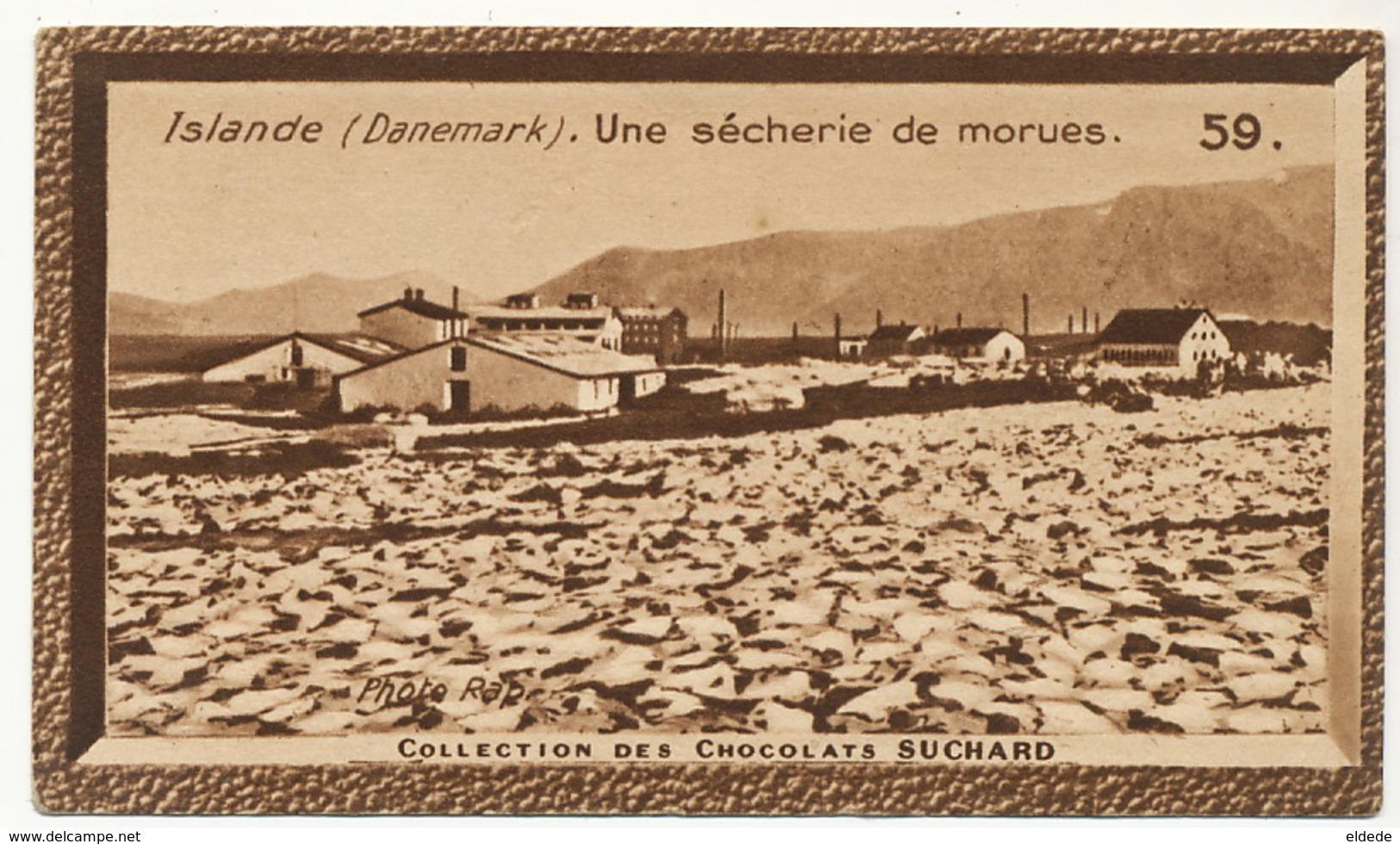 Image Pub Chocolat Suchard Islande Un E Secherie De Morues . Drying Cod - Lettonie