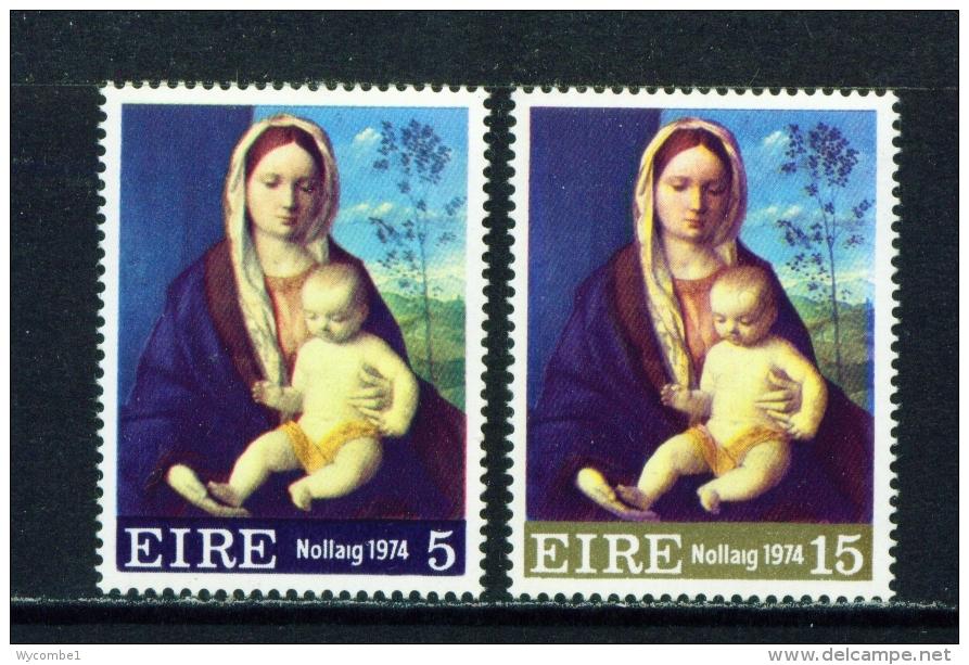 IRELAND  -  1974  Christmas  Set Unmounted/Never Hinged Mint - Unused Stamps