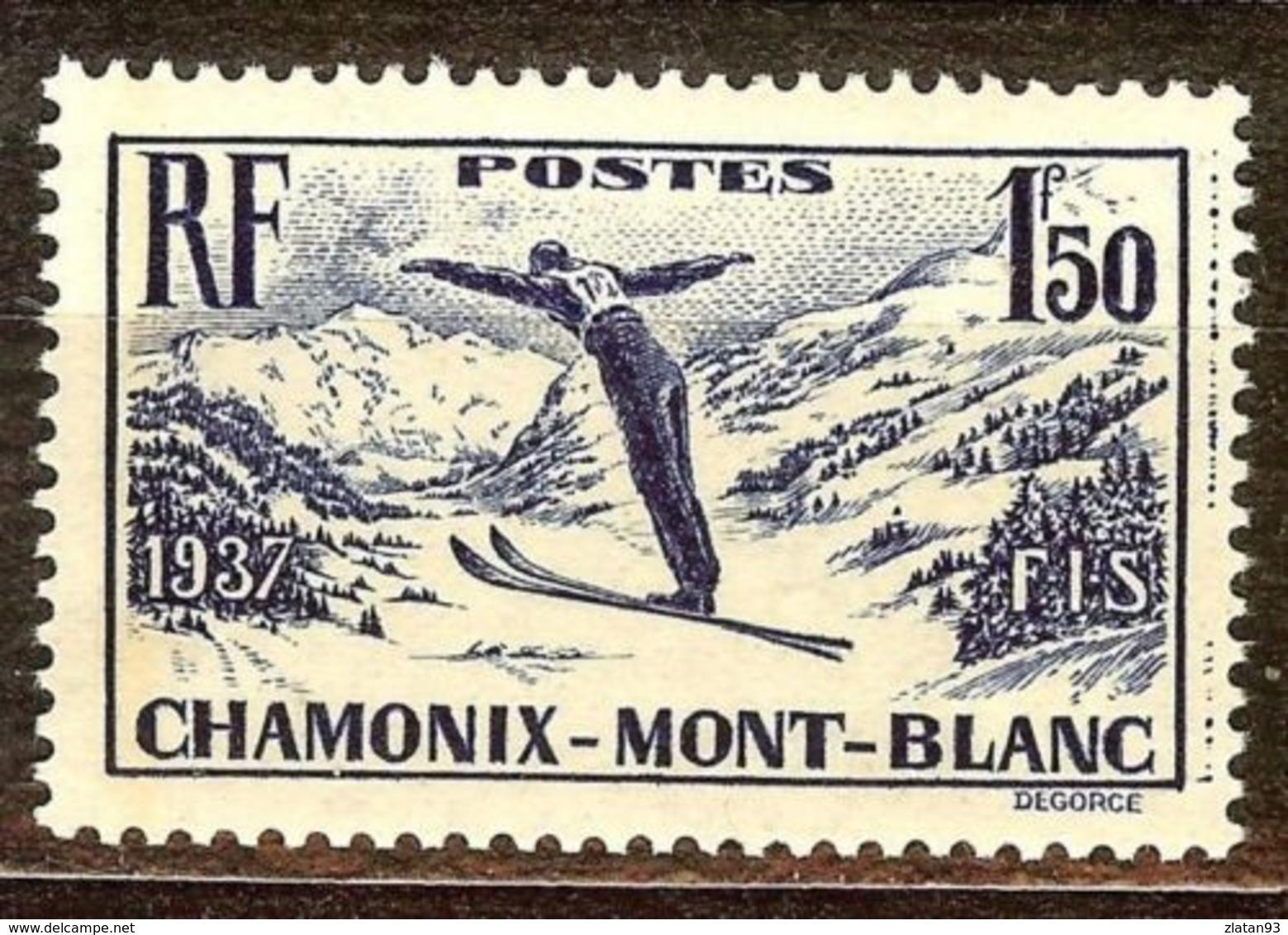 SUPERBE CHAMONIX N°334 NEUF Avec GOMME** Cote 16 Euro PAS D'AMINCI - Ungebraucht