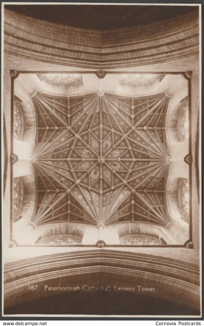 Lantern Tower, Peterborough Cathedral, Northamptonshire, C.1930 - RP Postcard - Northamptonshire