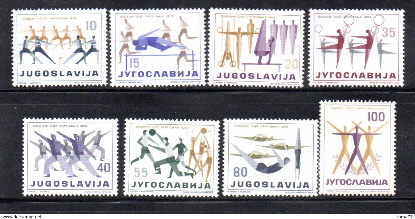 YUG89C - YUGOSLAVIA 1959,  Serie Unificato N. 801/808  ***  Partizan - 1945-1992 Repubblica Socialista Federale Di Jugoslavia