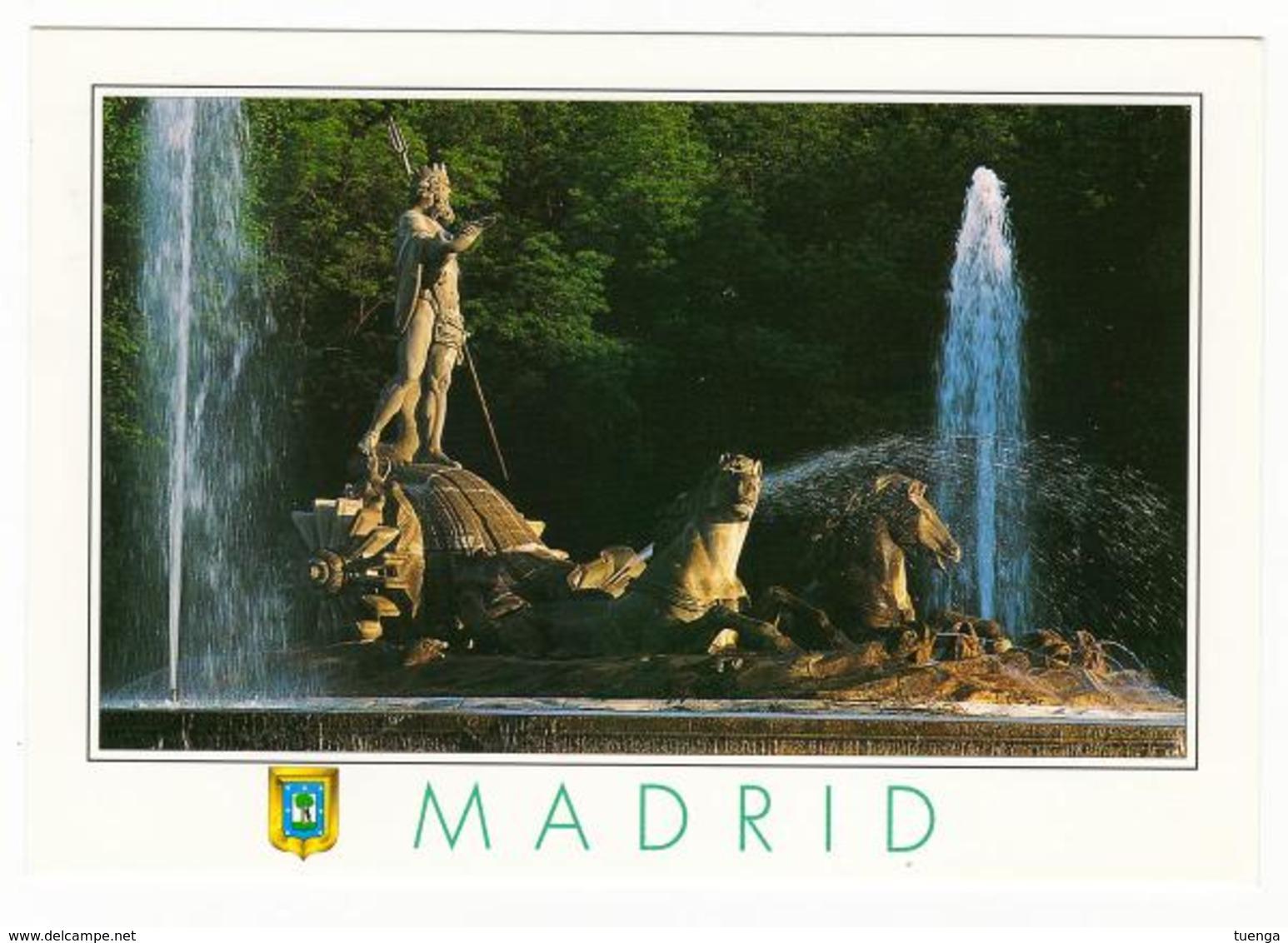 Tarjeta Postal. Fuente De Neptuno - Edifil 3983 - Centenario Del Club Atlético De Madrid - Madrid