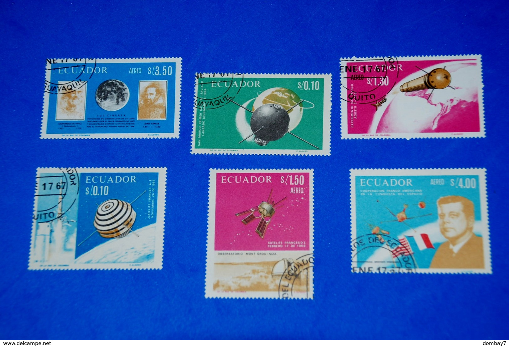 Space 1966 French-American-Italian - Kepler - Kennedy Complete Set Of 6 - Space