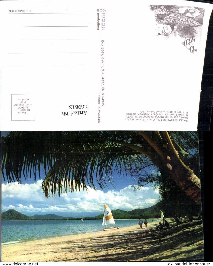 569813,Palm Cove Beach By Cairns North Queensland Australia Australien Strand Segelbo - Ansichtskarten