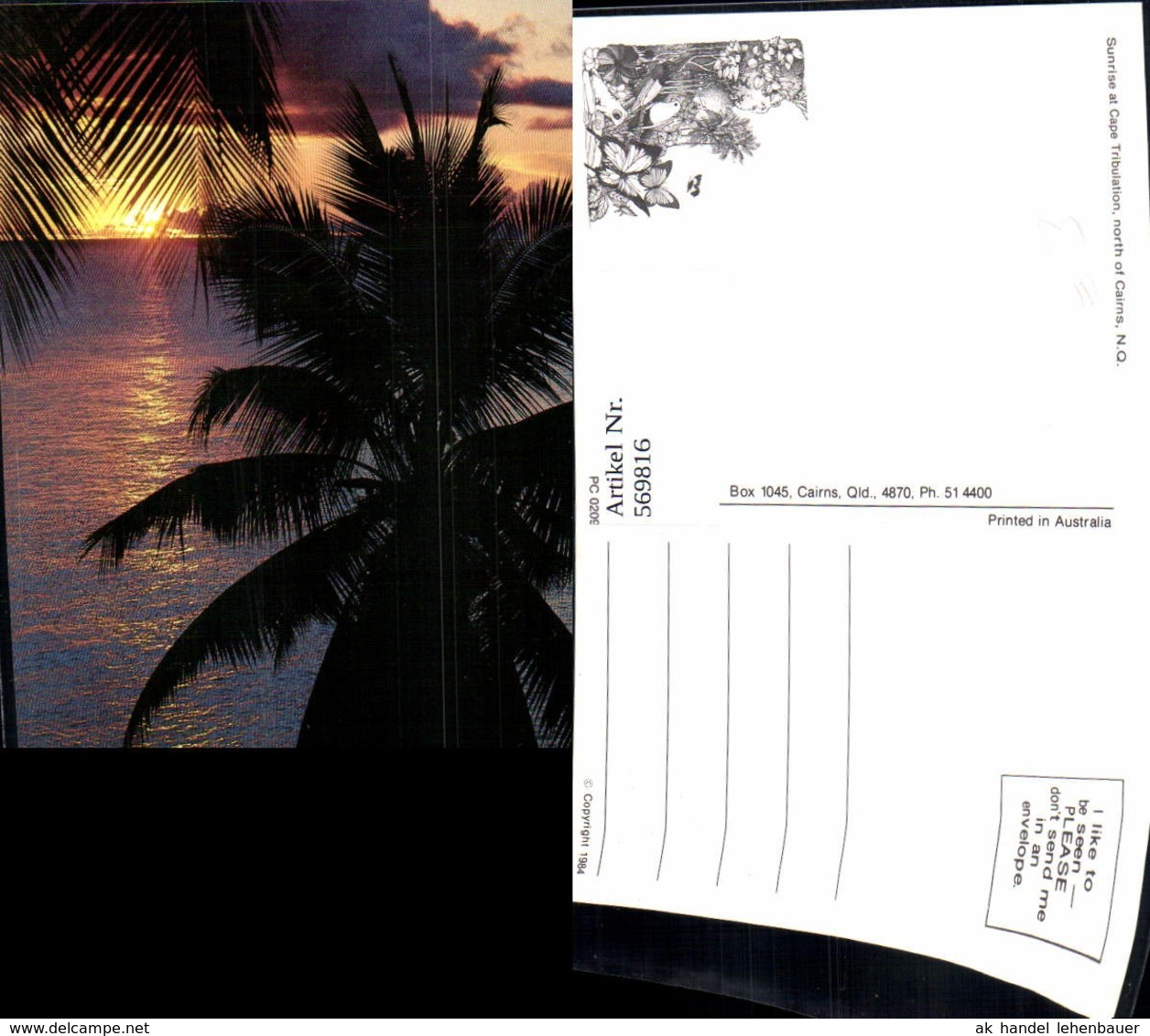 569816,Sunrise At Cape Tribulation North Of Cairns North Queensland Australien Austra - Cartoline