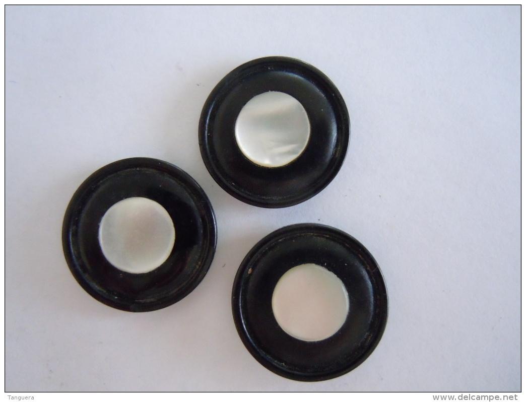 3 Knopen Boutons Bakeliet Bakelite Nacre 2 Cm - Boutons