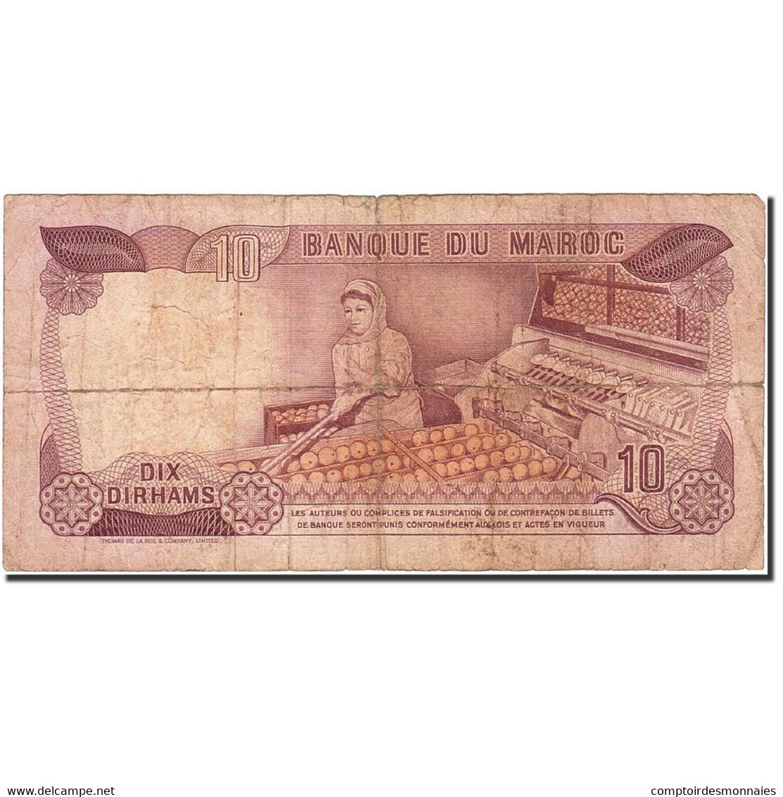 Billet, Maroc, 10 Dirhams, 1970, 1970, KM:57a, B - Maroc