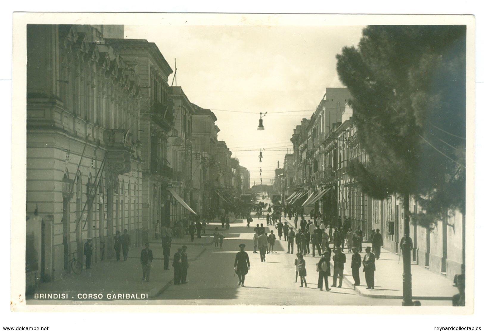 2x, 1900's, Italy, Brindisi, Real Photo Pcs, Unused. - Brindisi