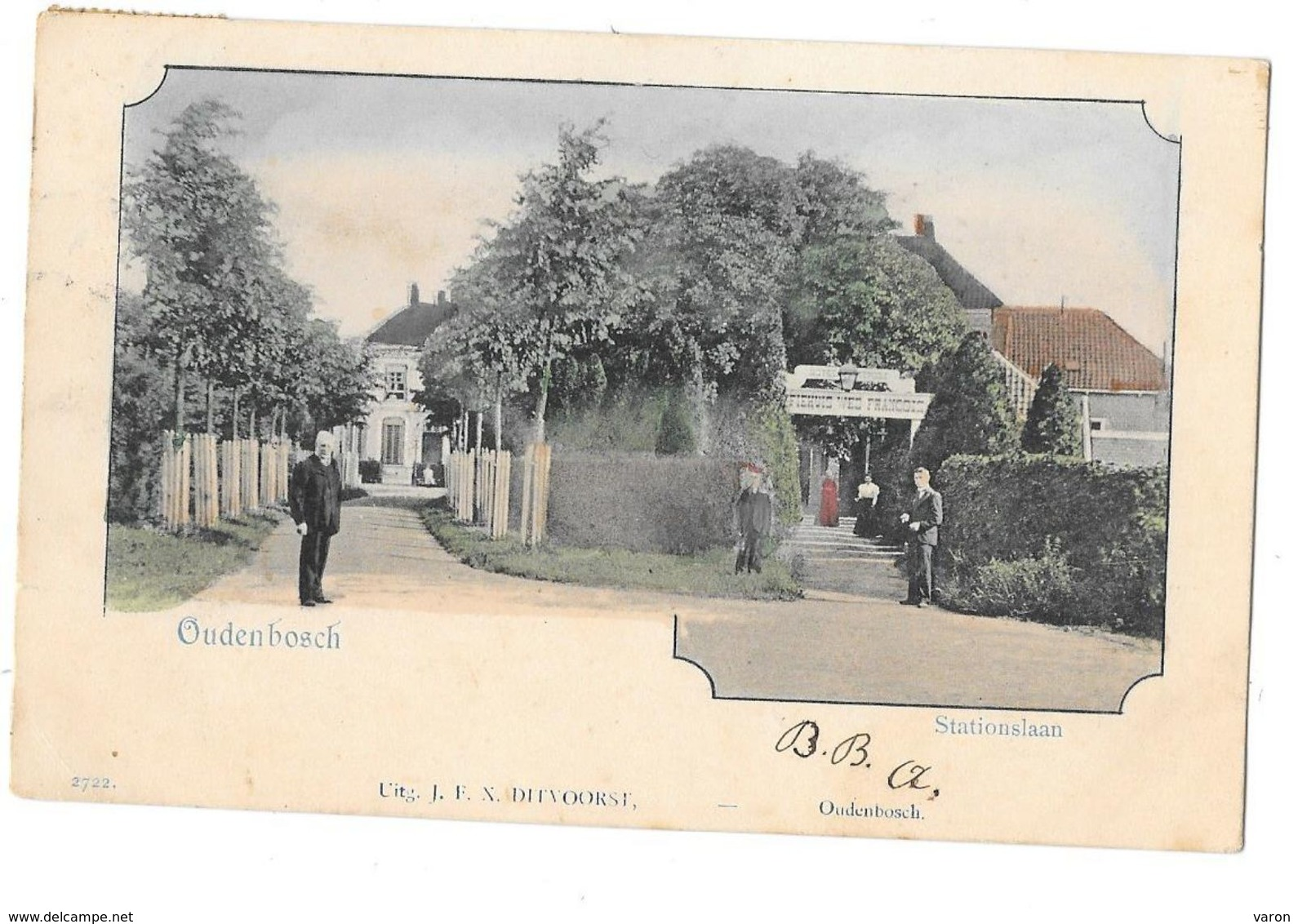 Pays-Bas -  OUDENBOSCH -    STATIONSLAAN - HOTEL TIVOLI   - Carte Pionnière 1903 - Editeur J.F.X.DITVOORST - Pays-Bas