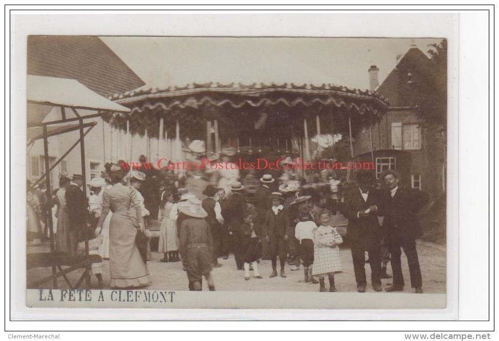 CLEFMONT : Carte Photo De La Fête Vers 1905 (le Manège) - Très Bon état - Clefmont