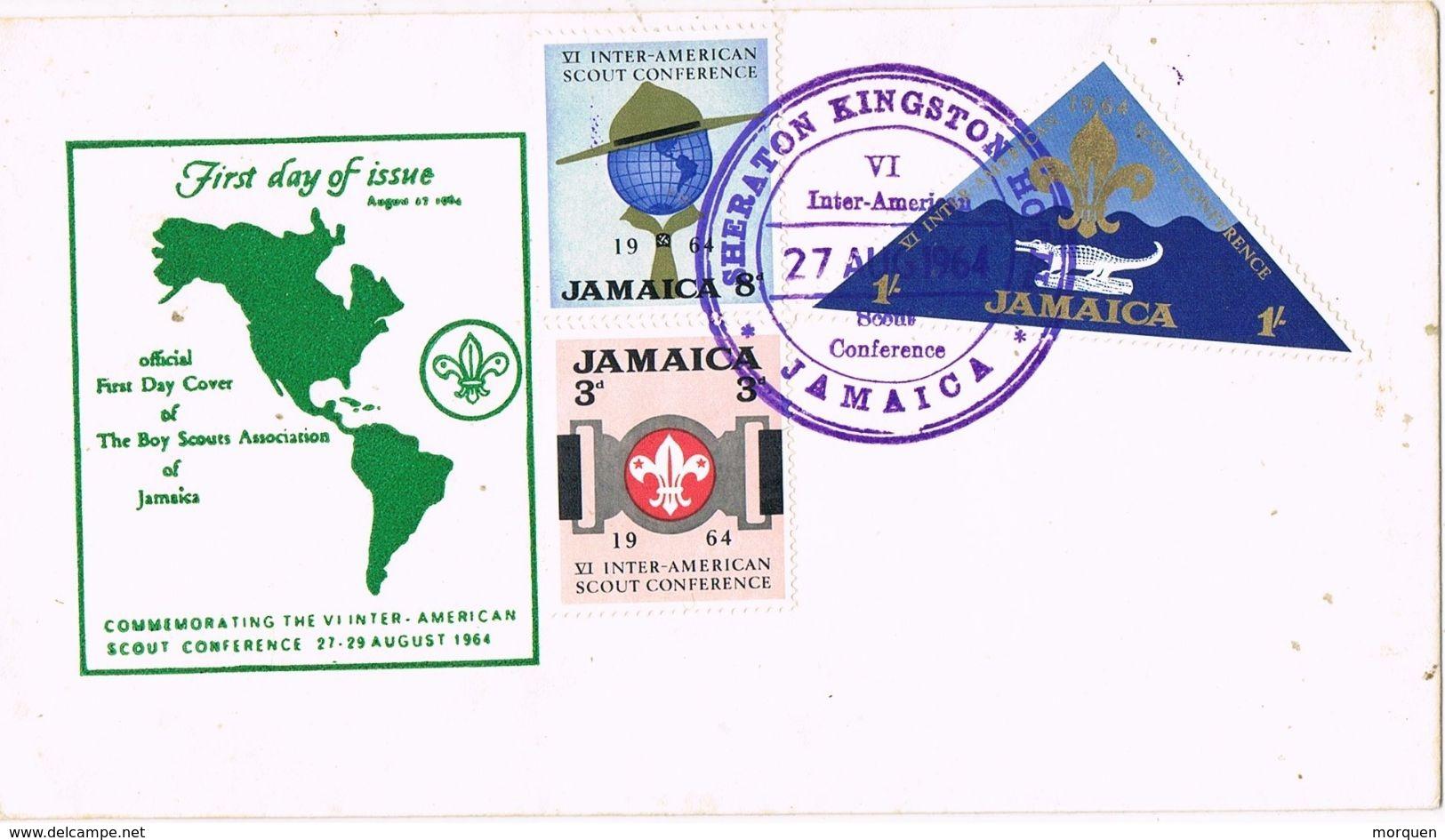 29263. Carta KINGSTON (Jamaica) 1964. Scouts Conference. HOTEL SHERATON - Jamaica (1962-...)
