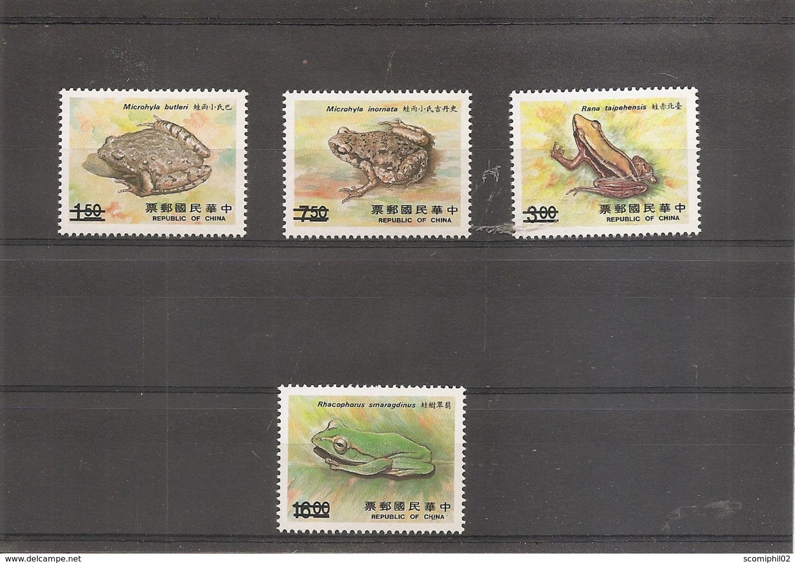"""Formose-taiwan - Grenouilles ( 1751/1754 Surchargés """"SPECIMEN"""" à Voir) - 1945-... République De Chine"""