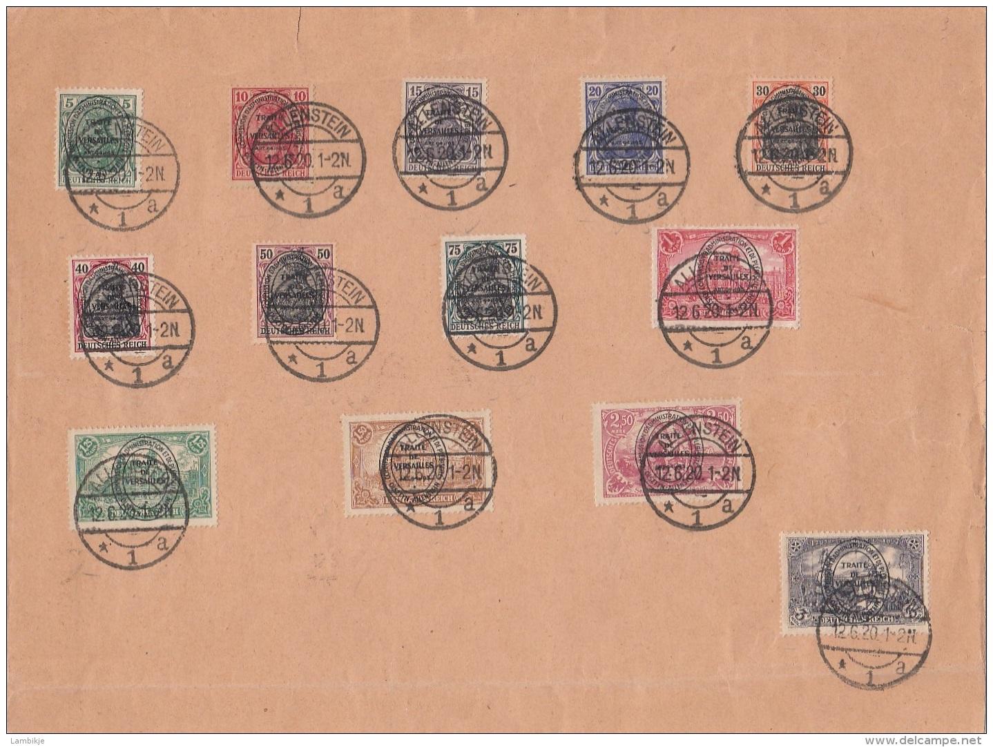 Deustches Reich Allenstein Brief 1921 - Non Classés