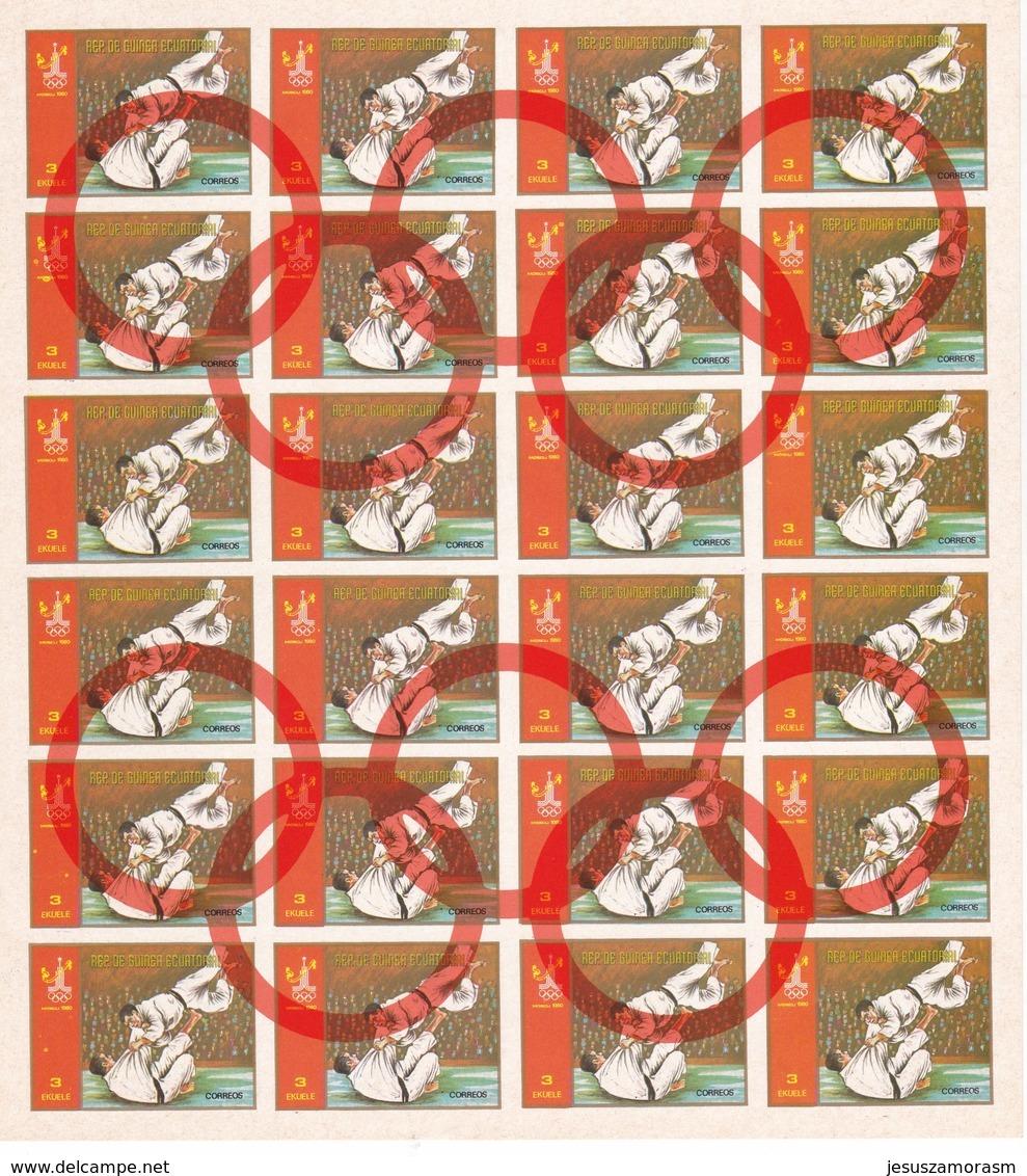 Guinea Ecuatorial Nº Michel A1288 Al A1295 En Hojas De 24 Series - Verano 1980: Moscu