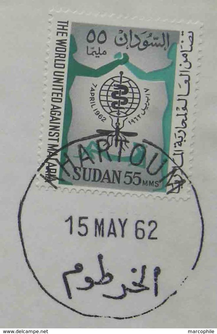 SOUDAN - KHARTOUM - FFC / 1962 PREMIER VOL POUR FRANCFORT  (ref 1049) - Soudan (1954-...)