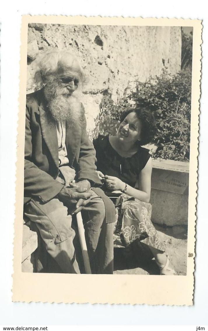 PHOTO Amateur 13,5 X 9 Cm Des Années 1950...LES BAUX De PROVENCE, Le Vieux Berger - Places