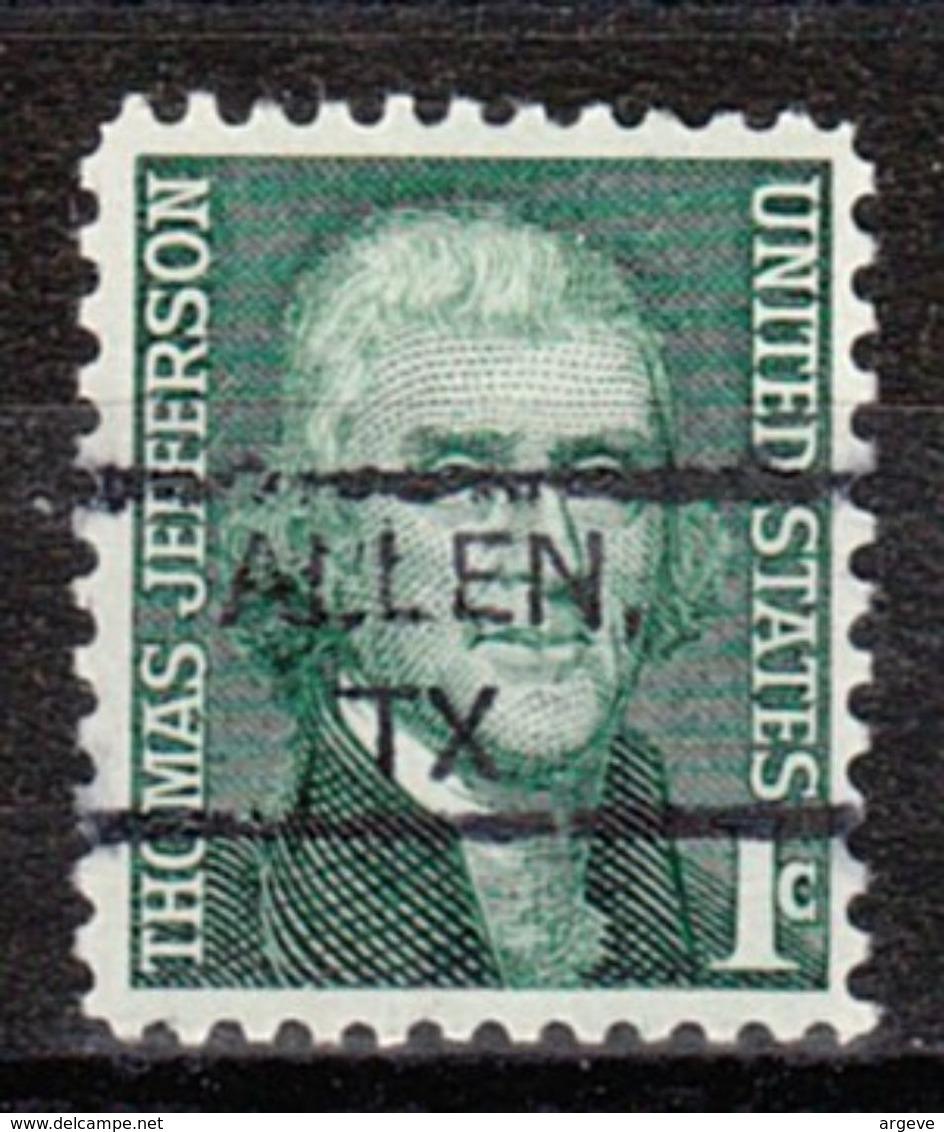 USA Precancel Vorausentwertung Preo, Locals Texas, Allen 827 - Vereinigte Staaten