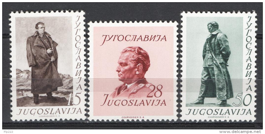 Jugoslavia 1952 Unif. 607/09 MNH/** VF - 1945-1992 Repubblica Socialista Federale Di Jugoslavia