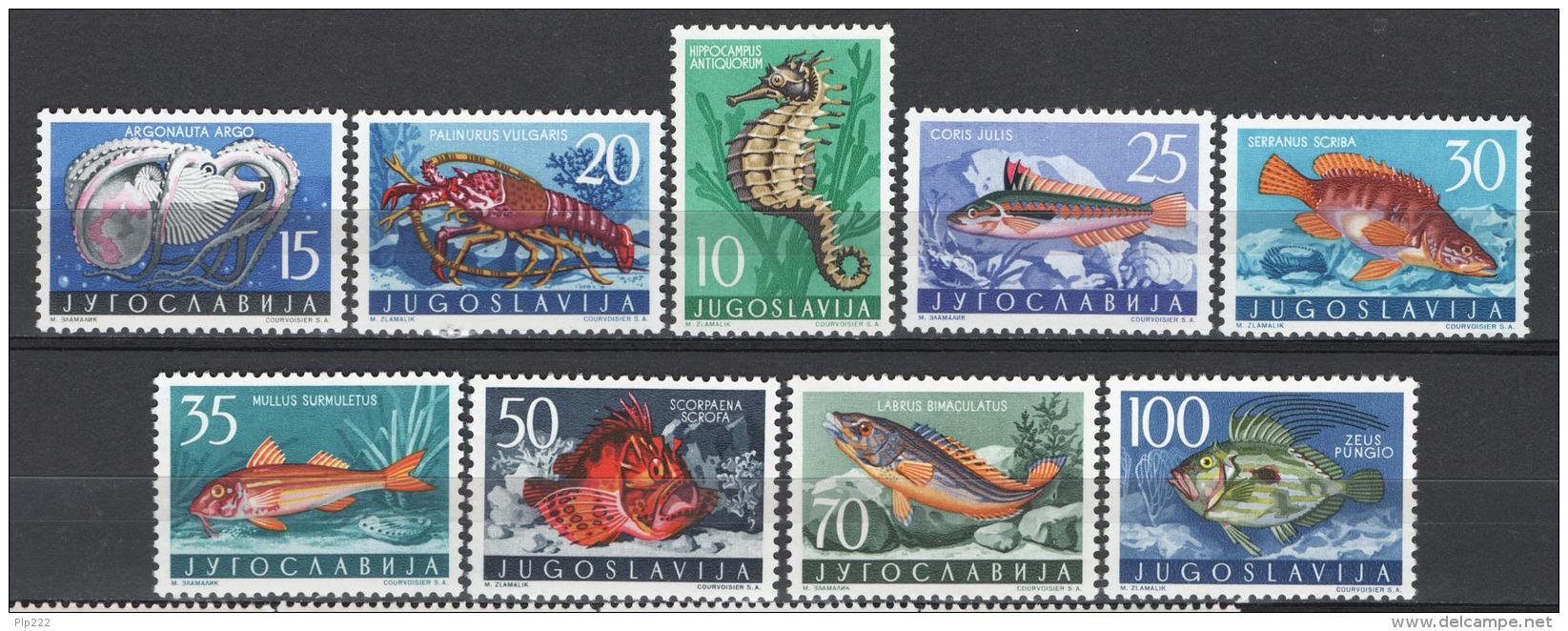 Jugoslavia 1956 Unif. 697/705 MNH/** VF - 1945-1992 Repubblica Socialista Federale Di Jugoslavia