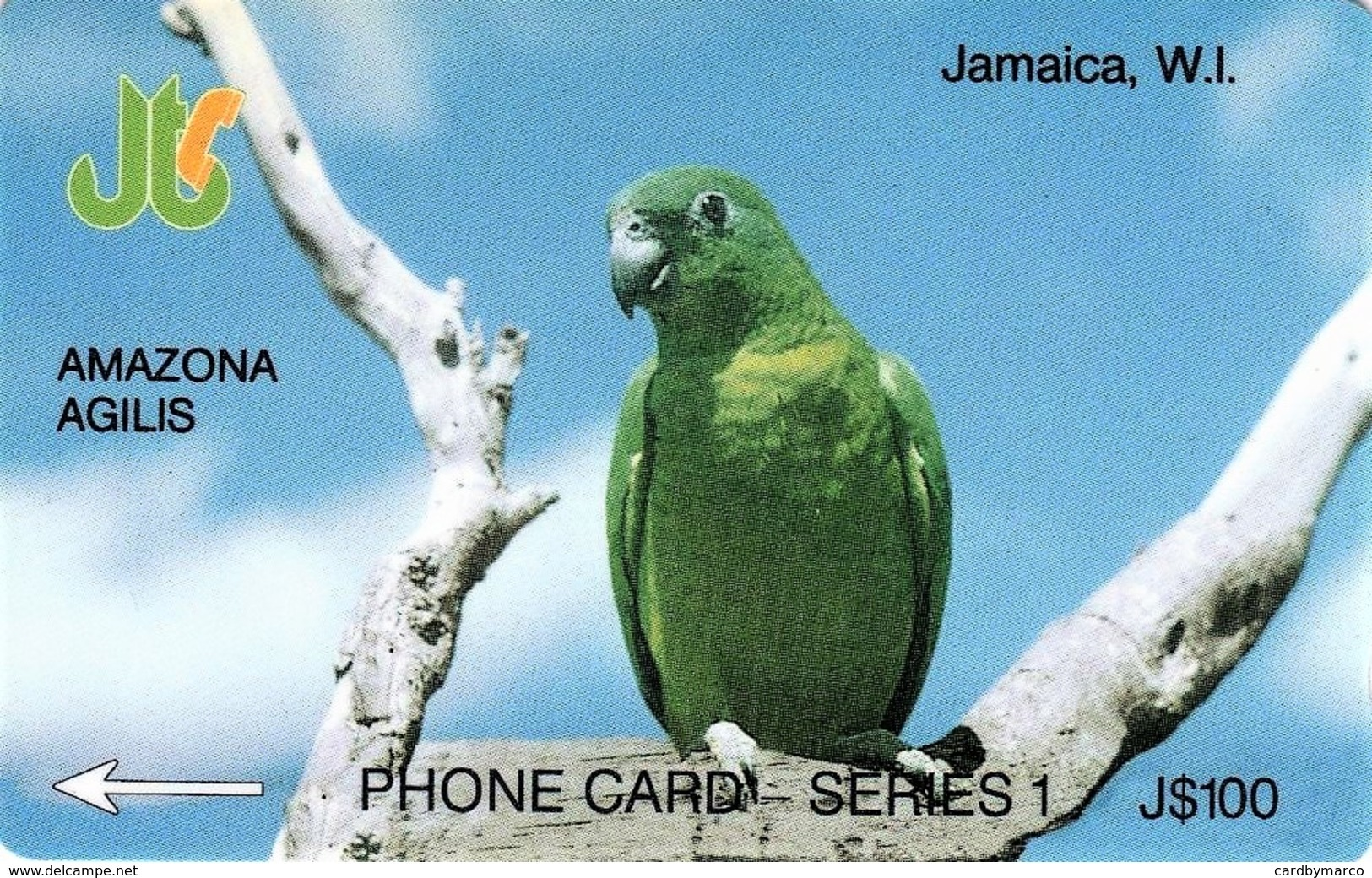 *GIAMAICA - 8JAMA* -  Scheda Usata - Giamaica
