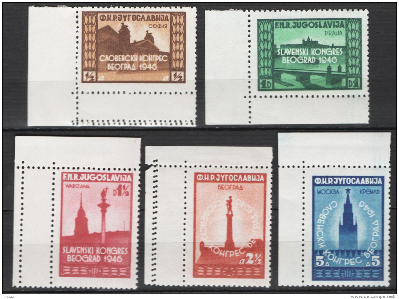 Jugoslavia 1946 Unif. 455/59 MNH/** VF - 1945-1992 Repubblica Socialista Federale Di Jugoslavia