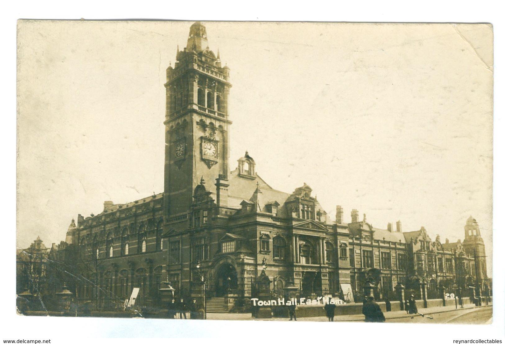 1918, GB, East Ham, Town Hall Pc, Used, Tottenham Pmk. - London Suburbs