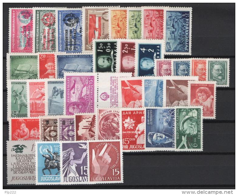 Jugoslavia 1945/55 39 Values MNH/** VF - 1945-1992 Repubblica Socialista Federale Di Jugoslavia