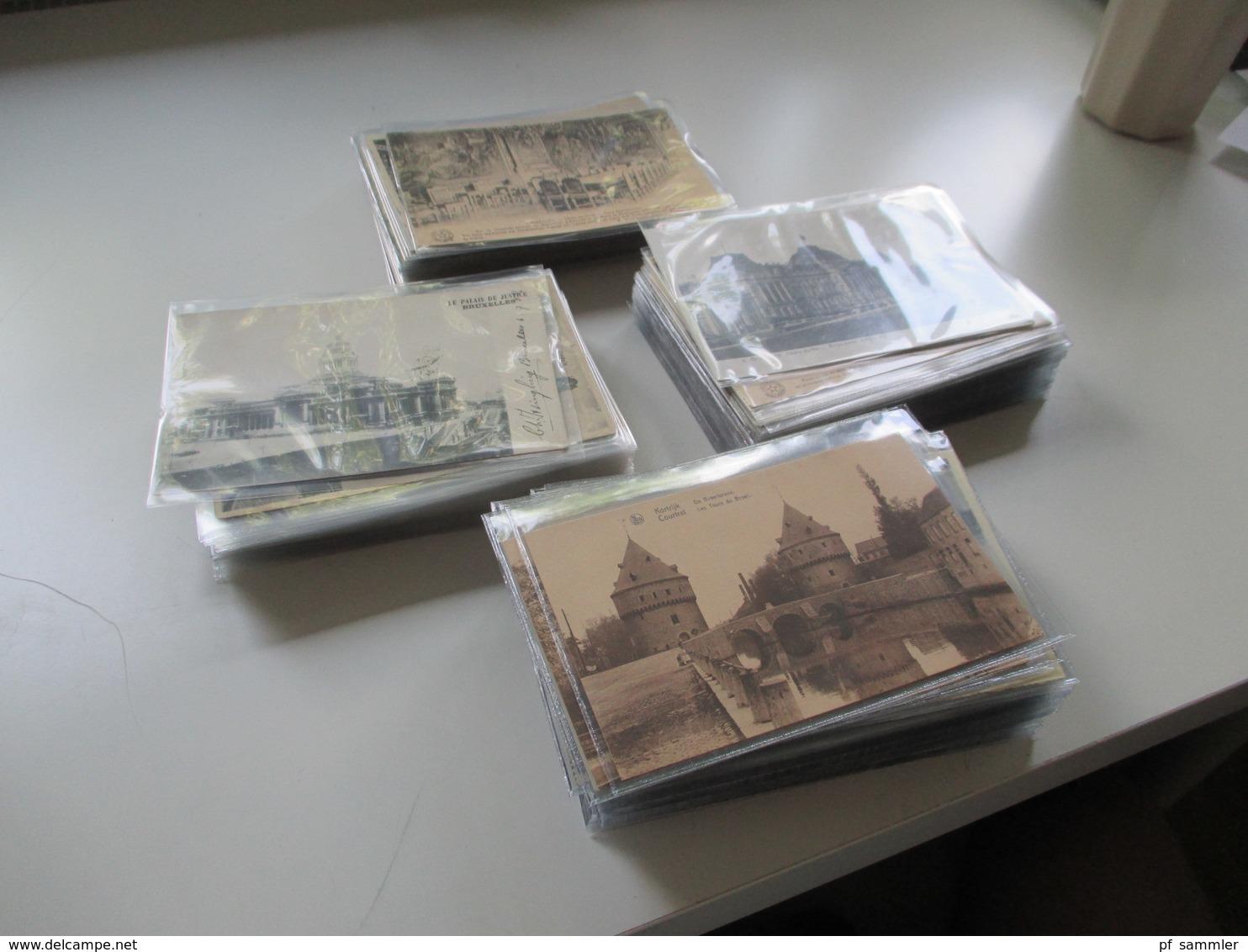 Belgien 1900 - 30er Jahre 240 AK Viele Schöne Motive! Etliches Ungelaufen Aber Auch Gelaufen! Viel Brüssel! - 100 - 499 Cartoline
