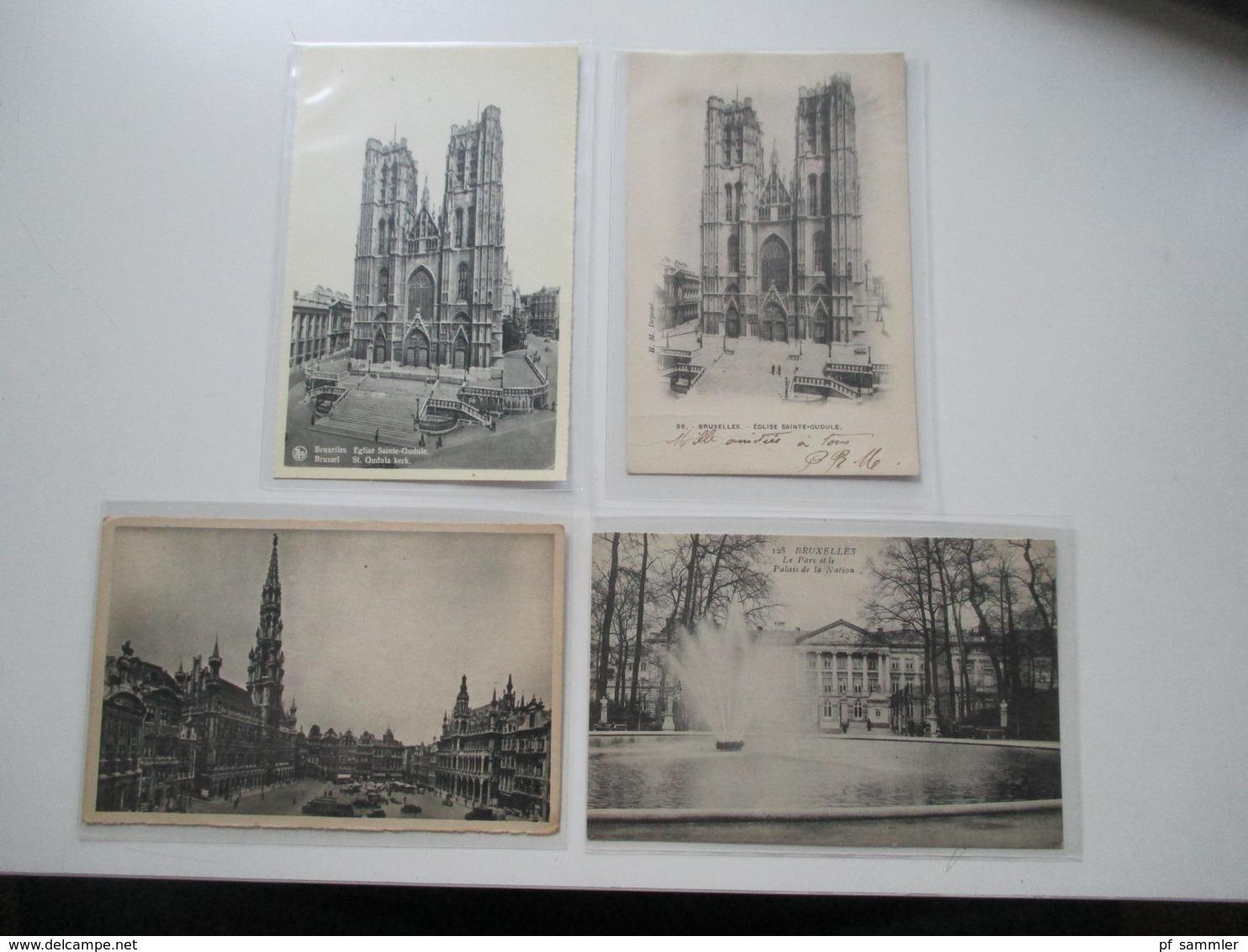 Belgien 1900 - 30er Jahre 240 AK Viele Schöne Motive! Etliches Ungelaufen Aber Auch Gelaufen! Viel Brüssel! - Ansichtskarten