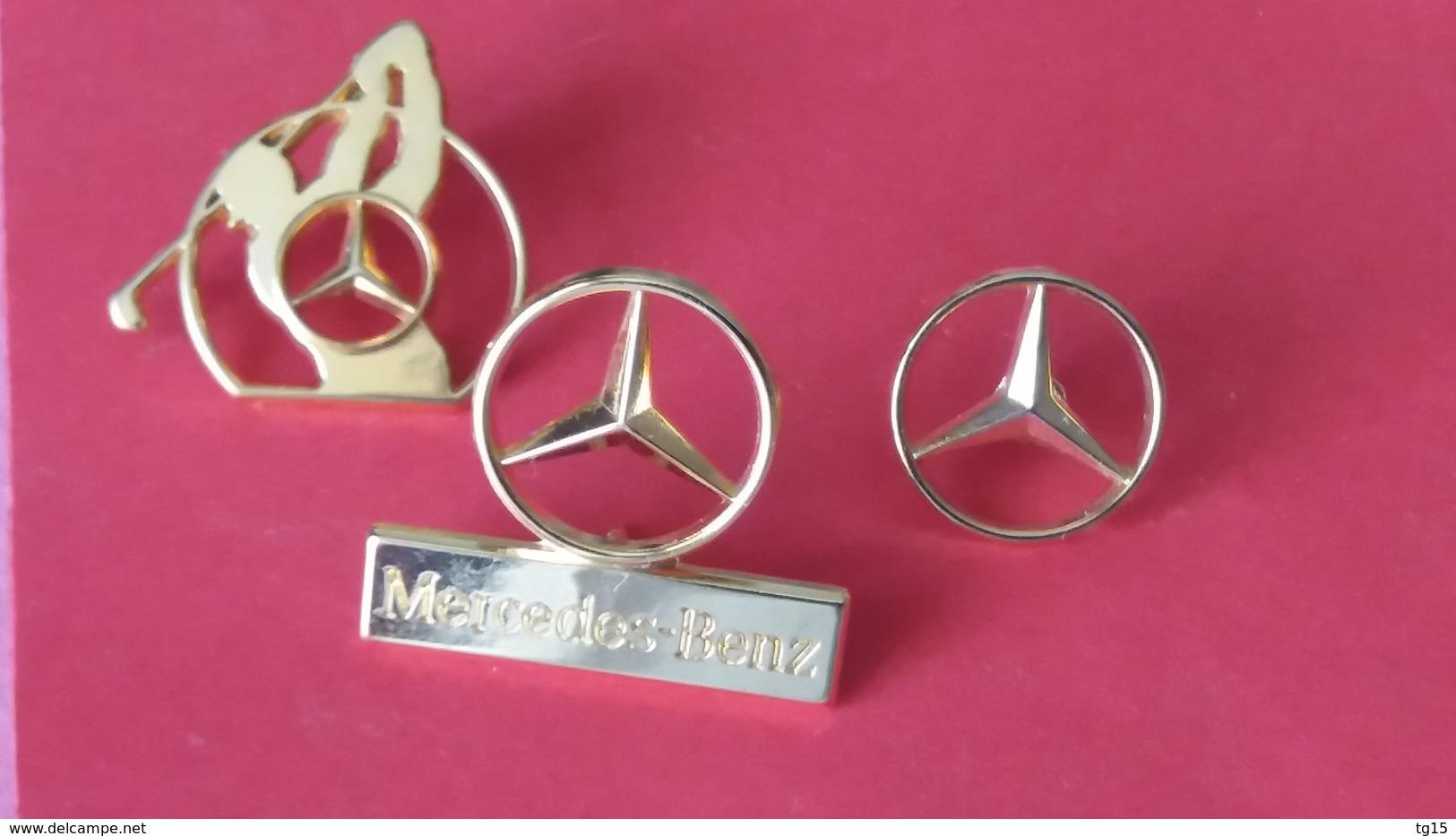 Pin's  LOT  3    MERCEDES     ARTHUS BERTRAND  ET SOFREC - Mercedes
