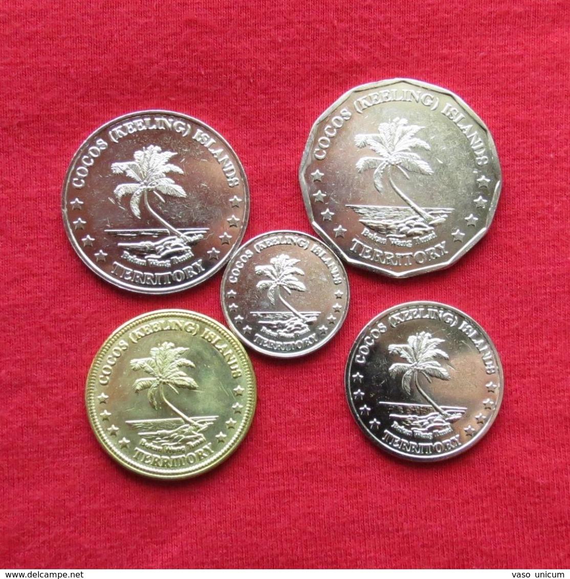 Cocos Keeling Isl. Set 5 10 20 50 Cents $ 1 - 2004 UNC - Monnaies