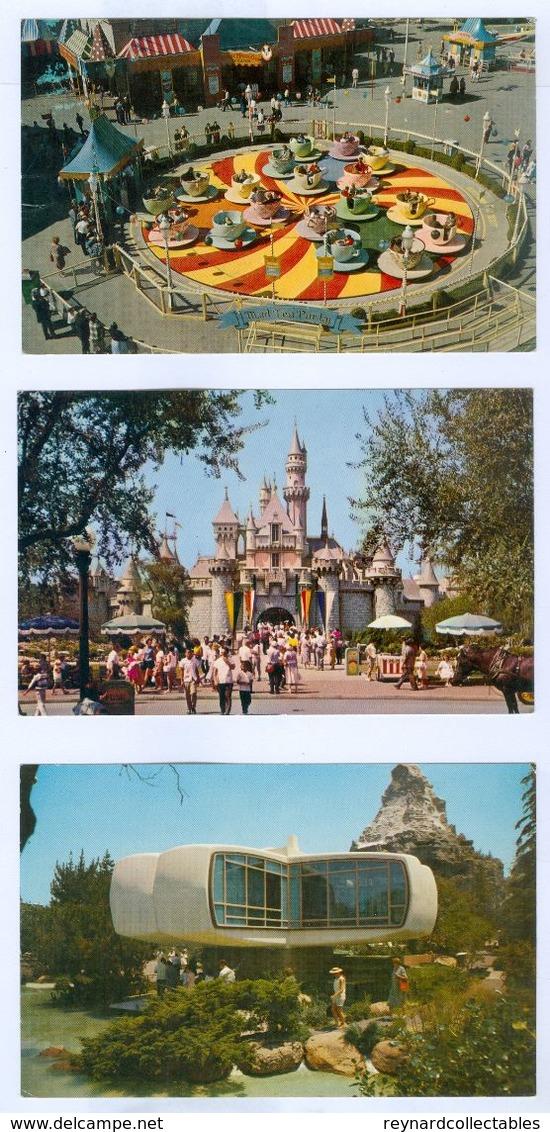 3x Official Disneyland Pc's. All Unused. - Disneyland