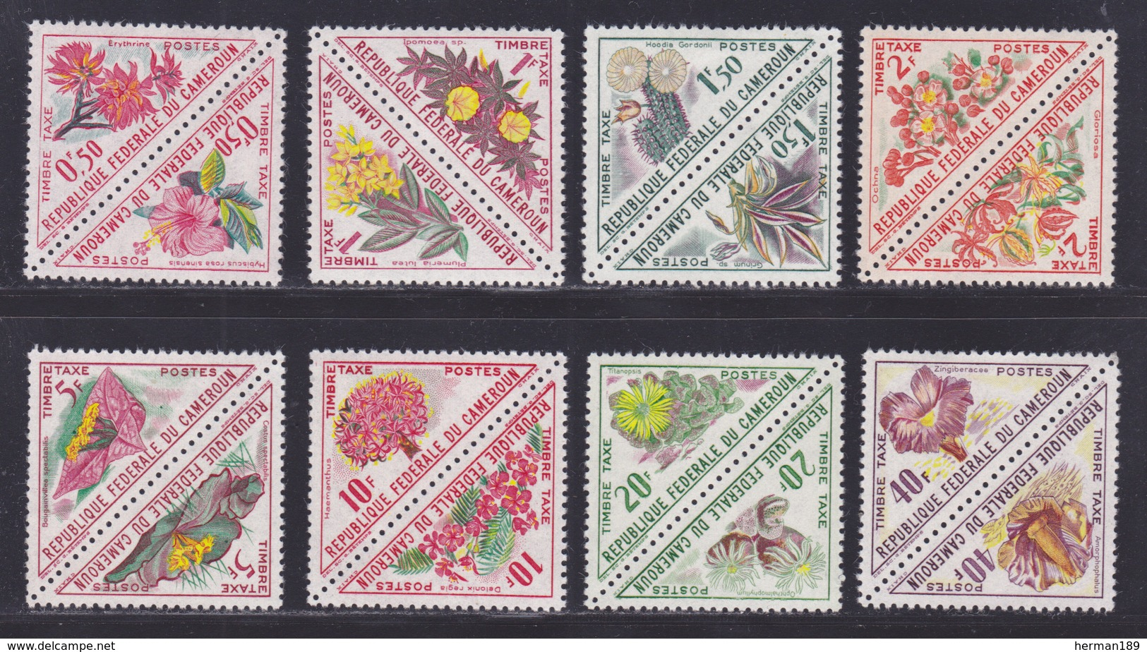 CAMEROUN TAXE N°   35 à 50, AERIENS N° 58 ** MNH Neufs Sans Charnière, TB (D7519) Flore, Fleurs Diverses 1963 - Kameroen (1960-...)